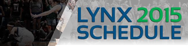 Lynx 2015 Schedule