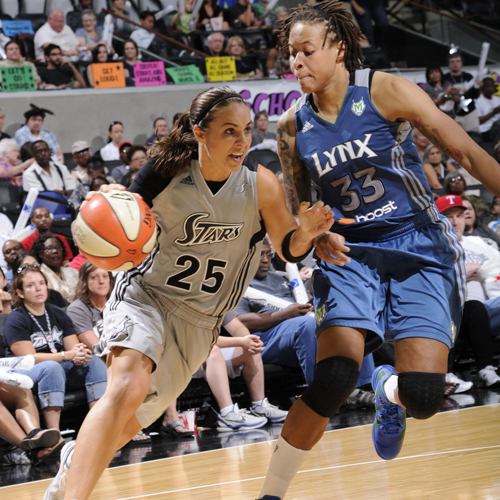 Today we go back to September 18, 2011 when Becky Hammon drove against Lynx guard Seimone Augustus. While the Lynx play the Stars tonight, Hammon will not be playing. She's now an assistant coach for the San Antonio Spurs. Lucky for Lynx fans, Augustus is still hitting midrange shots for the Lynx.