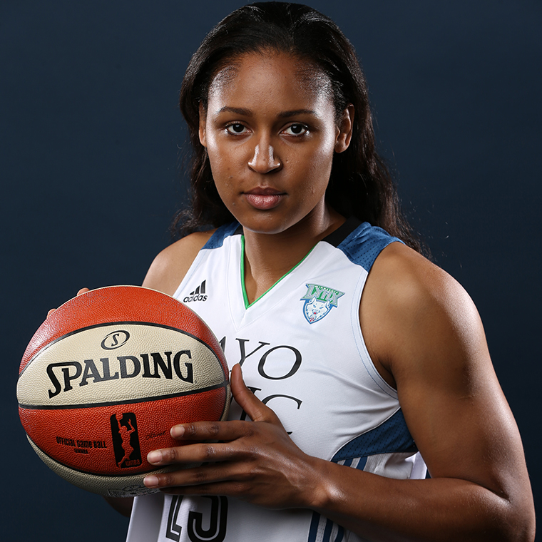 Today's Photo of the Week comes from Media Day. Maya Moore looks ready for the 2015 season. Are you?