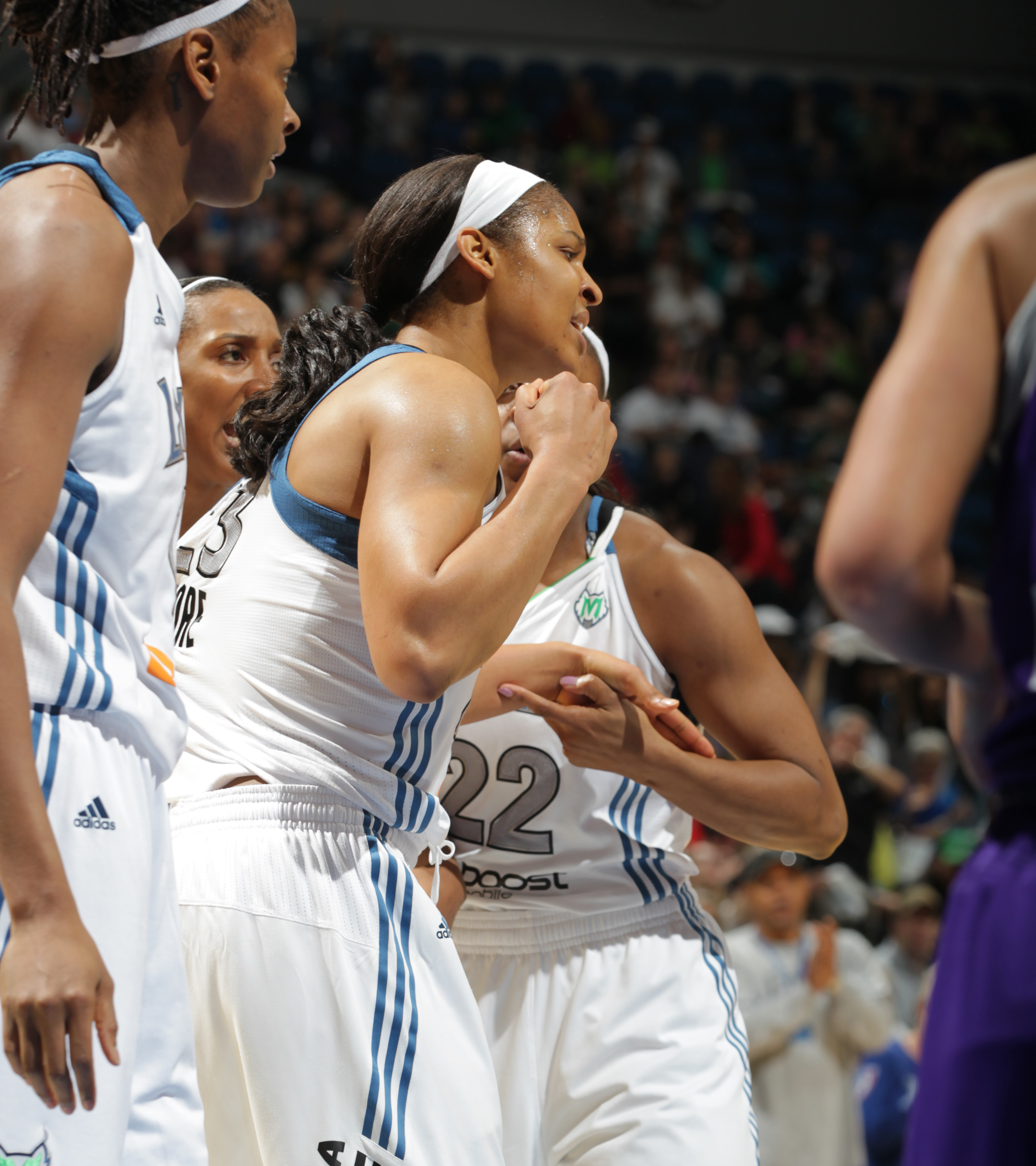 2012's Home-Opener: Lynx forward Maya Moore definitely pumped up her team that night scoring 13 points to go with her four rebounds, four assists and two steals.