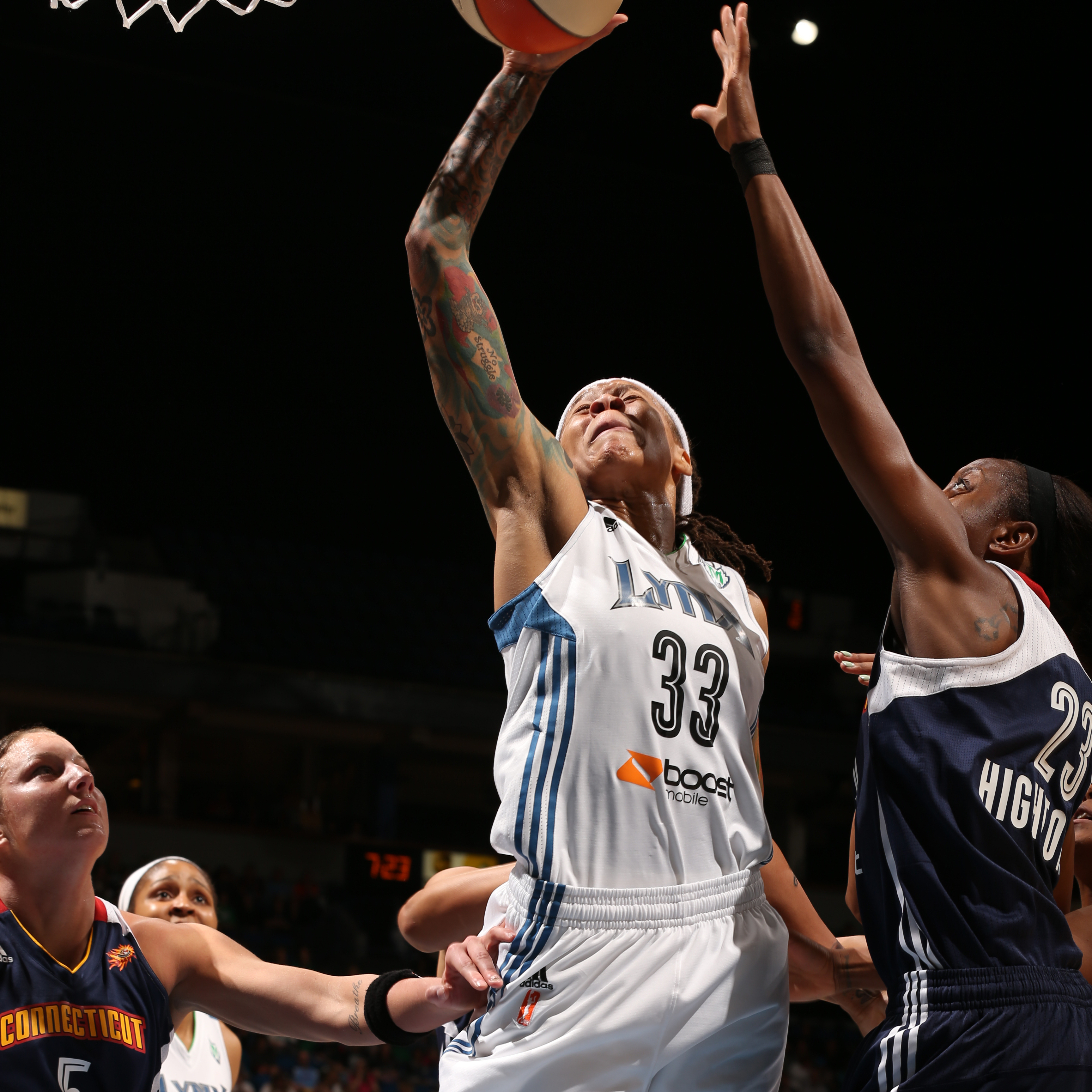 2013's Home-Opener: Lynx guard Seimone Augustus helped lead the Lynx to victory over the Sun, scoring 20 points while grabbing four rebounds, dishing out four assists and snagging one steal.