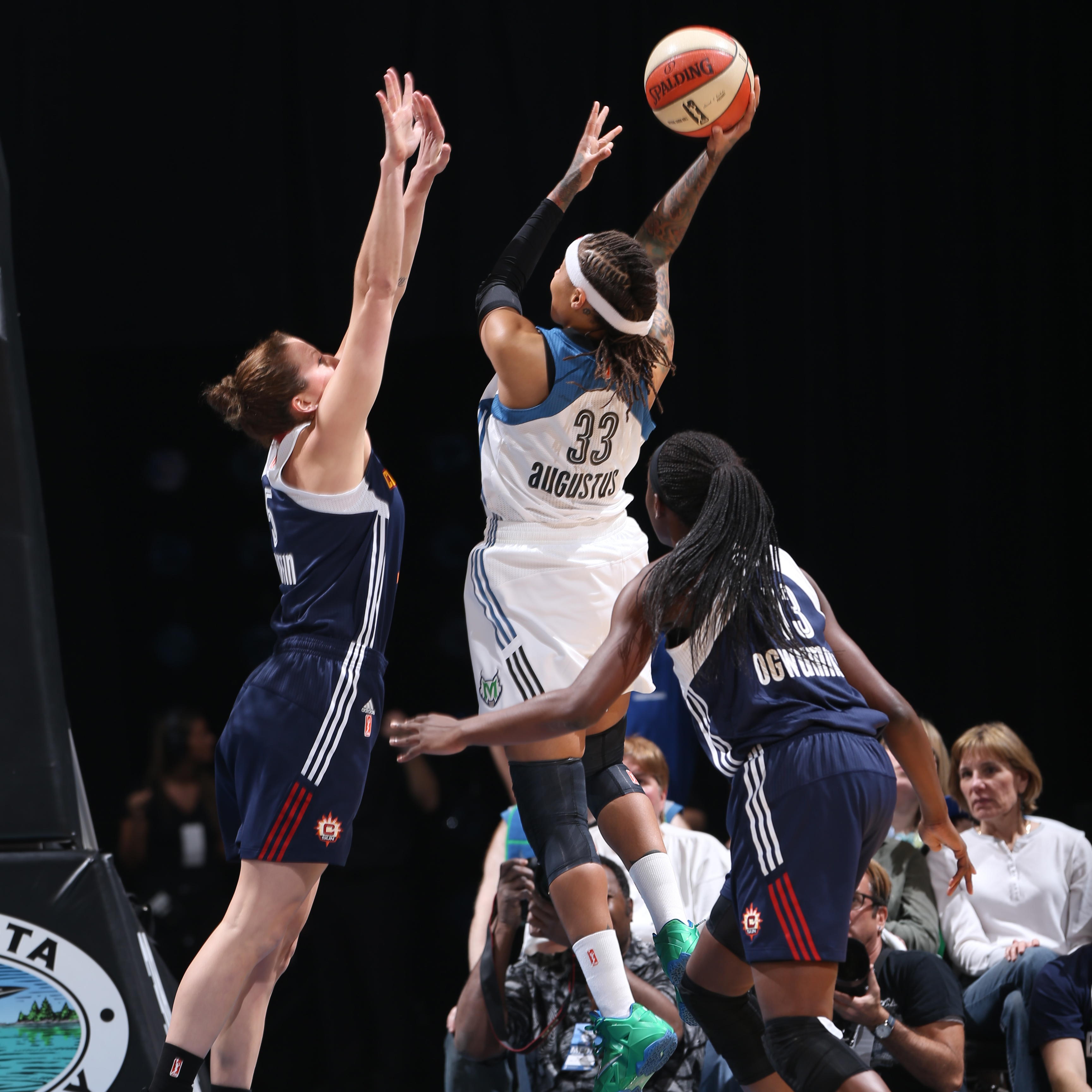 2014's Home-Opener: Lynx guard Seimone Augustus, despite committing five turnovers, still scored 18 points to help the Lynx to victory.