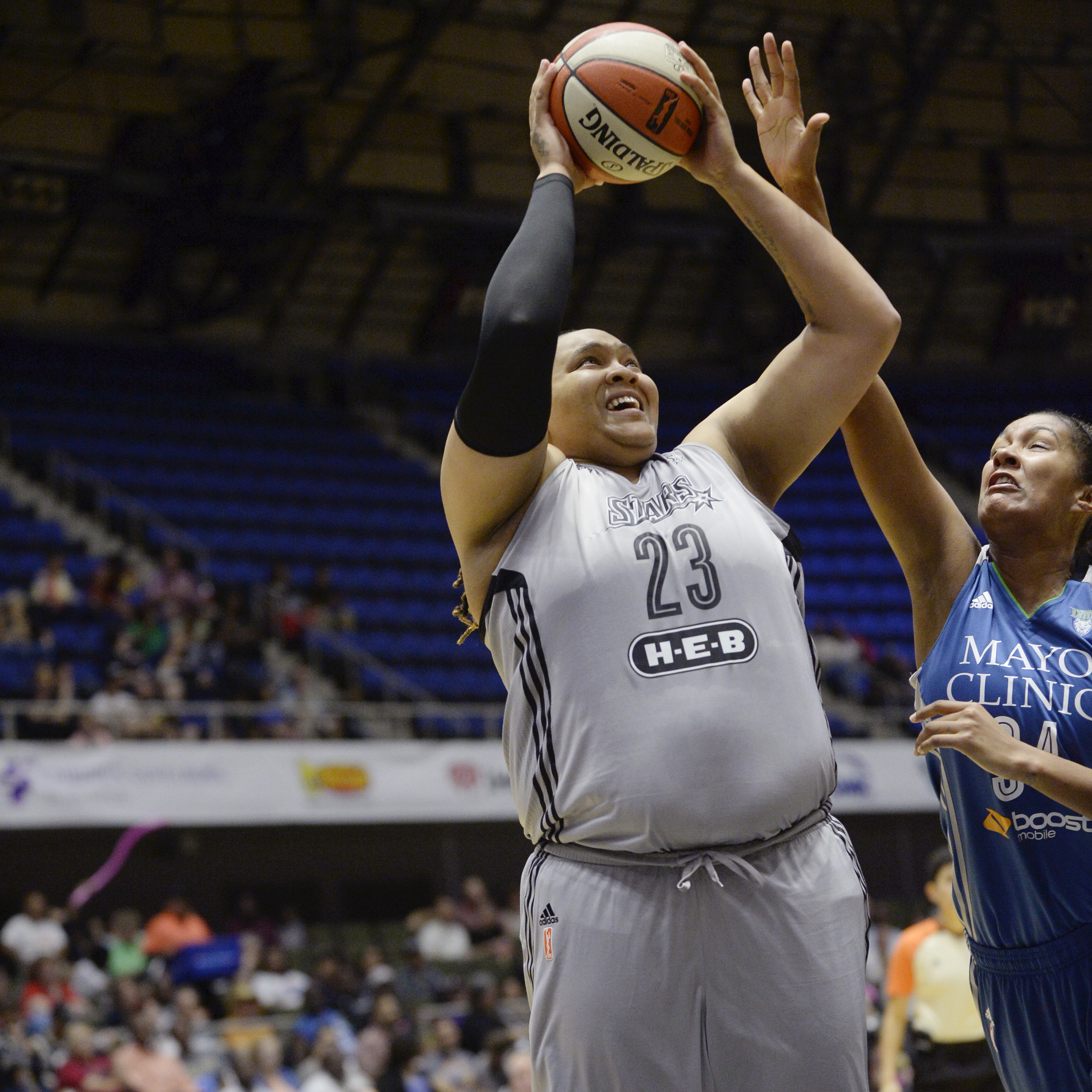 Stars center Danielle Adams had a very quiet game against the Lynx, scoring just two points  in 12 minutes of play.