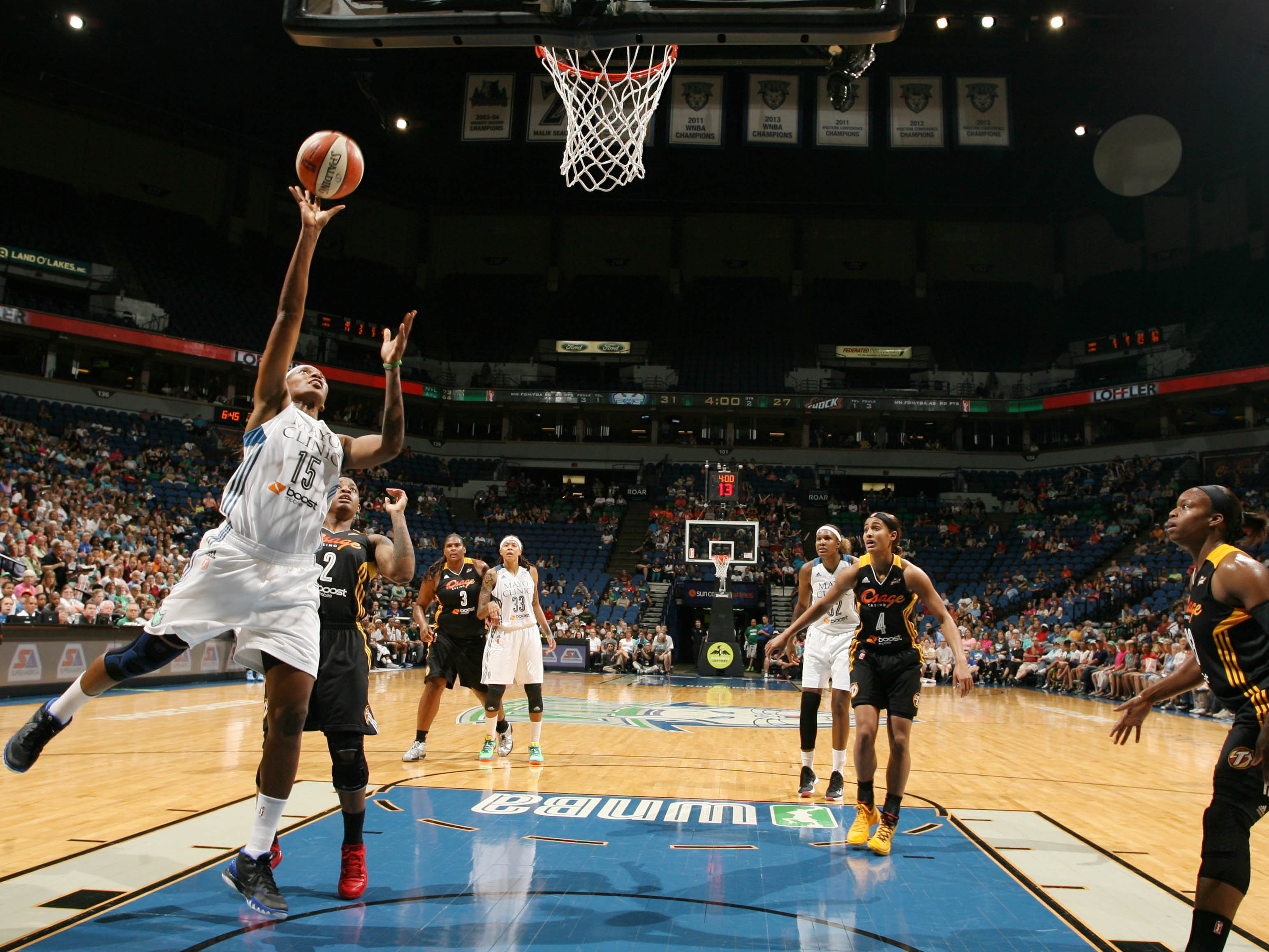 Lynx center Asjha Jones managed four points, two rebounds and three assists in just unde 17 minutes of playing time.