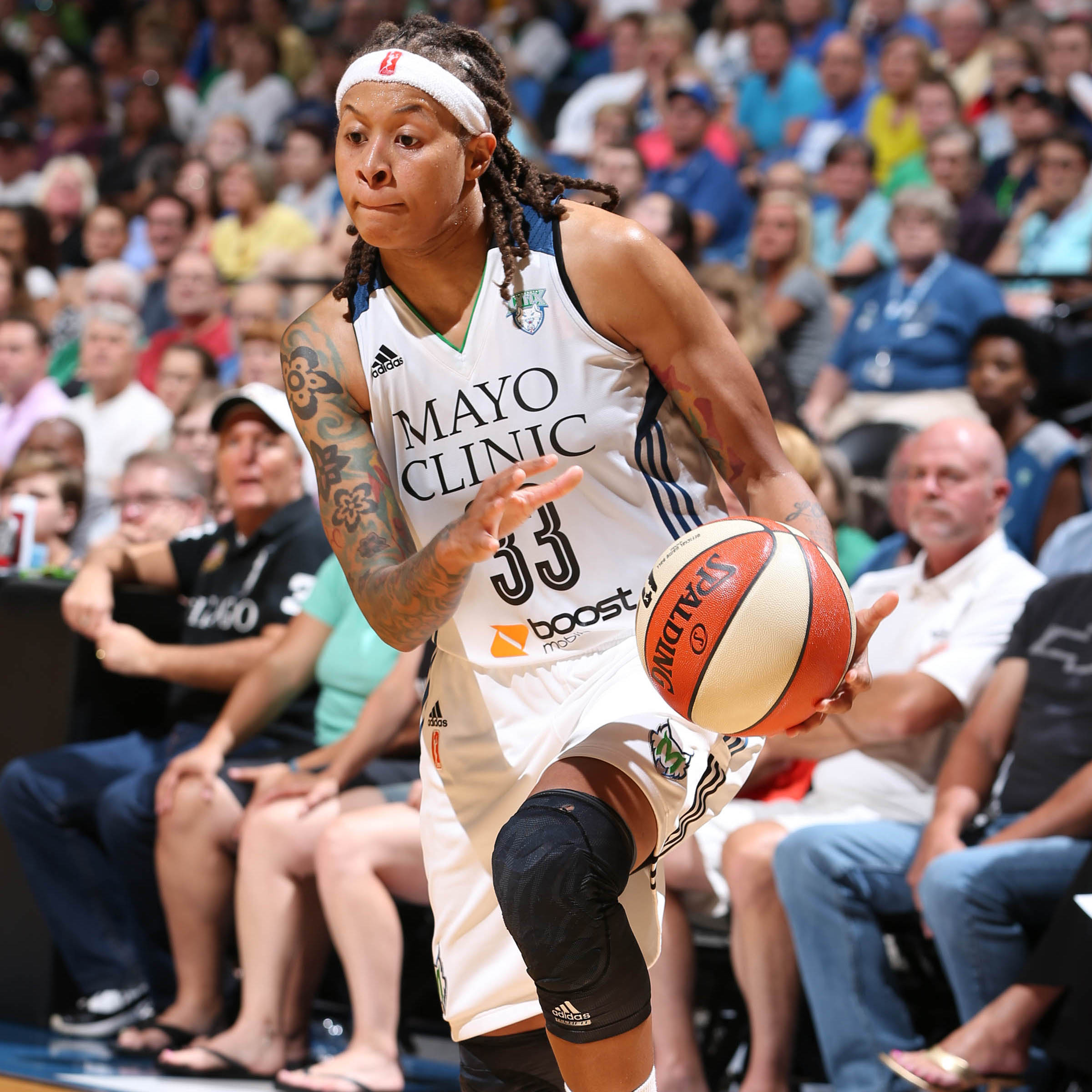 Lynx guard Seimone Augustus had a solid game, scoring 15 points on 7-of-13 shooting.