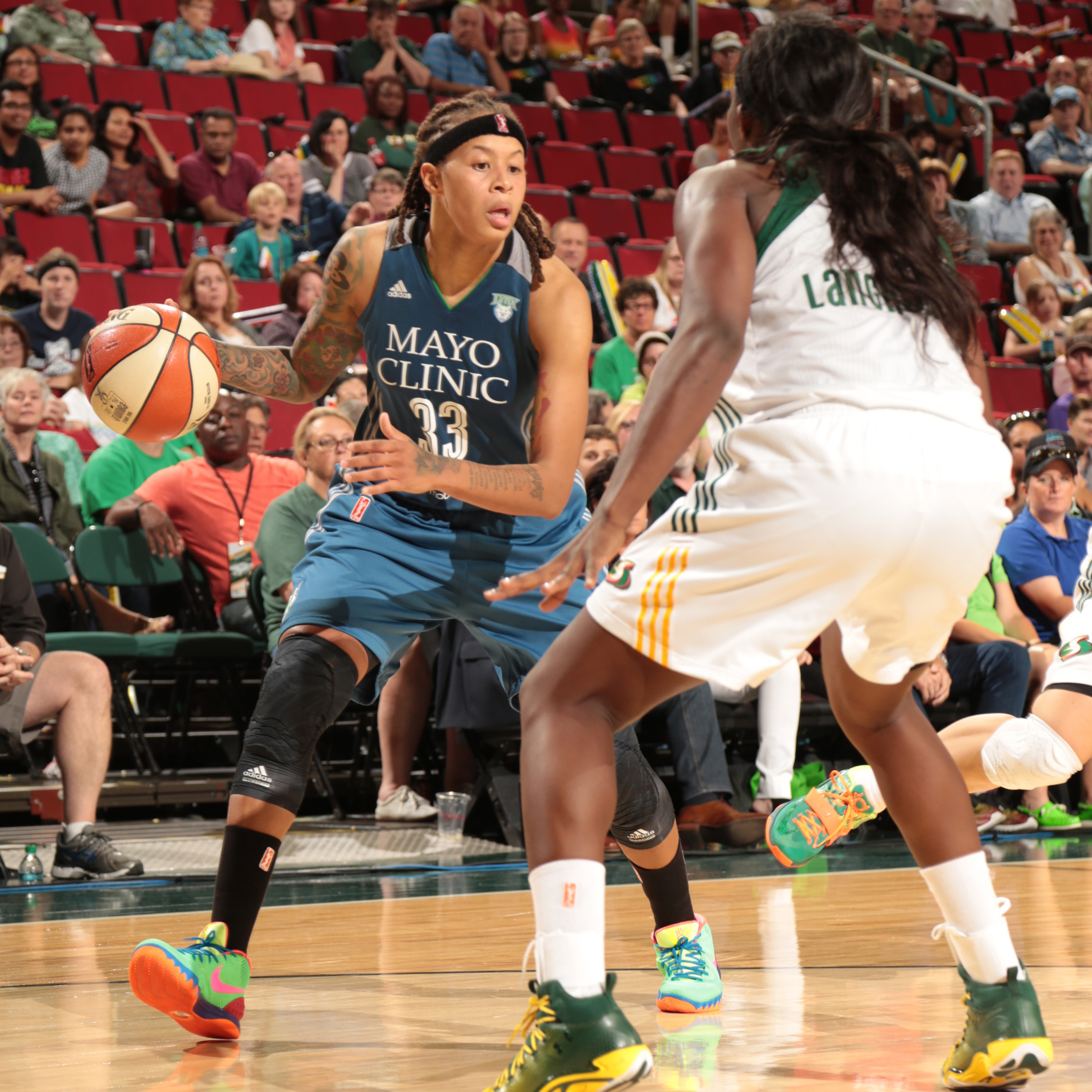 Lynx guard Seimone Augustus fueled Minnesota's furious comeback, pouring in 24 points to go with four rebounds and three assists.