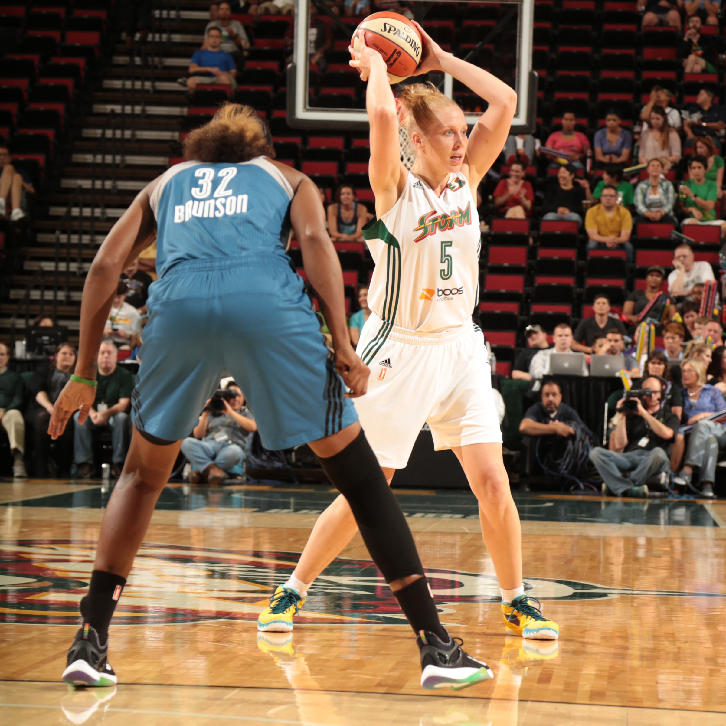 Storm forward Abby Bishop was solid all-night for Seattle, scoring 12 points while grabbing nine rebounds.