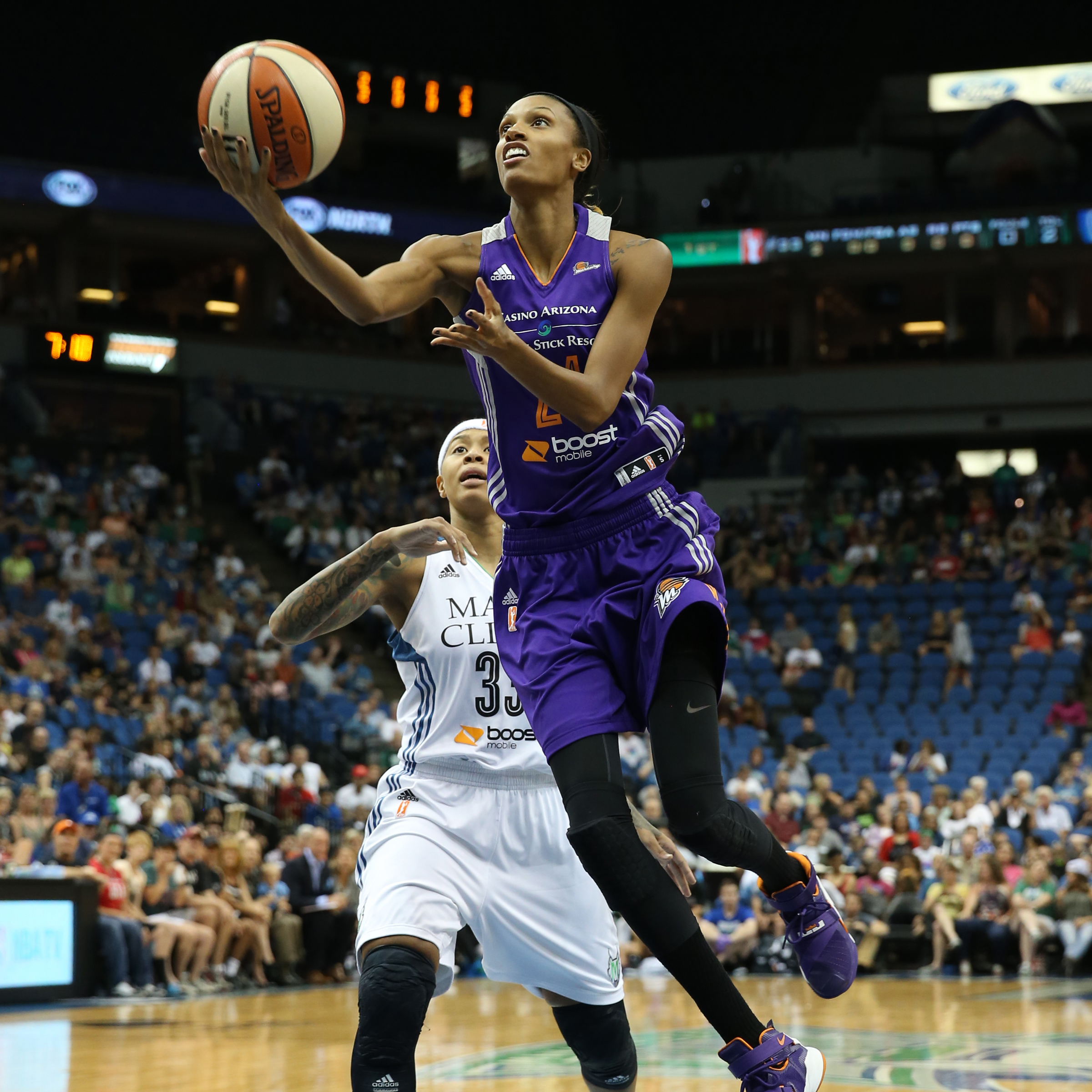 Mercury forward DeWanna Bonner led Phoenix scoring a team-high 18 points while adding seven rebounds and four assists.