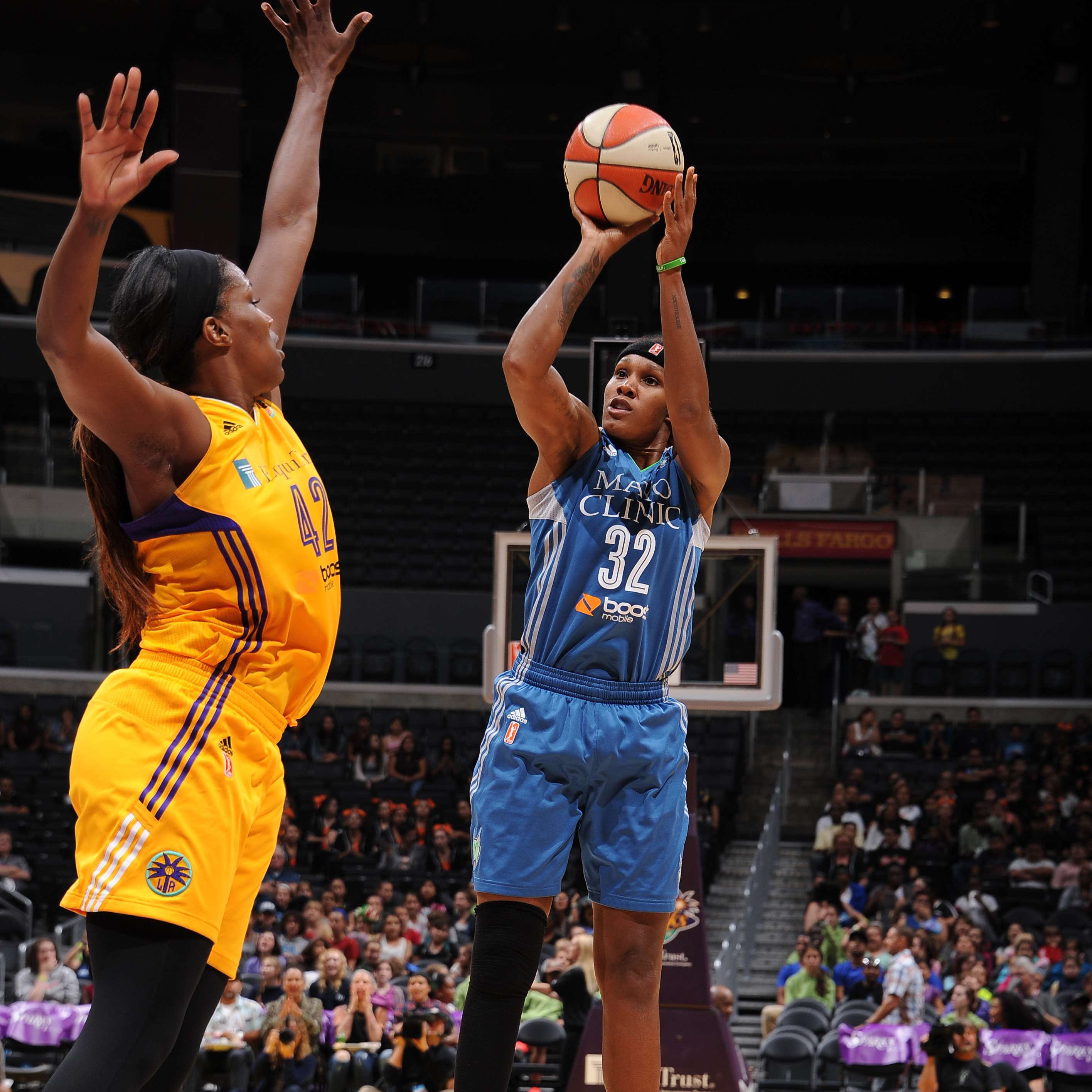 Lynx forward Rebekkah Brunson entered the June 16 contest riding a hot streak, but the Sparks cooled her off.  Brunson finished with just two points and seven rebounds, her lowest totals in a game at that point in season.