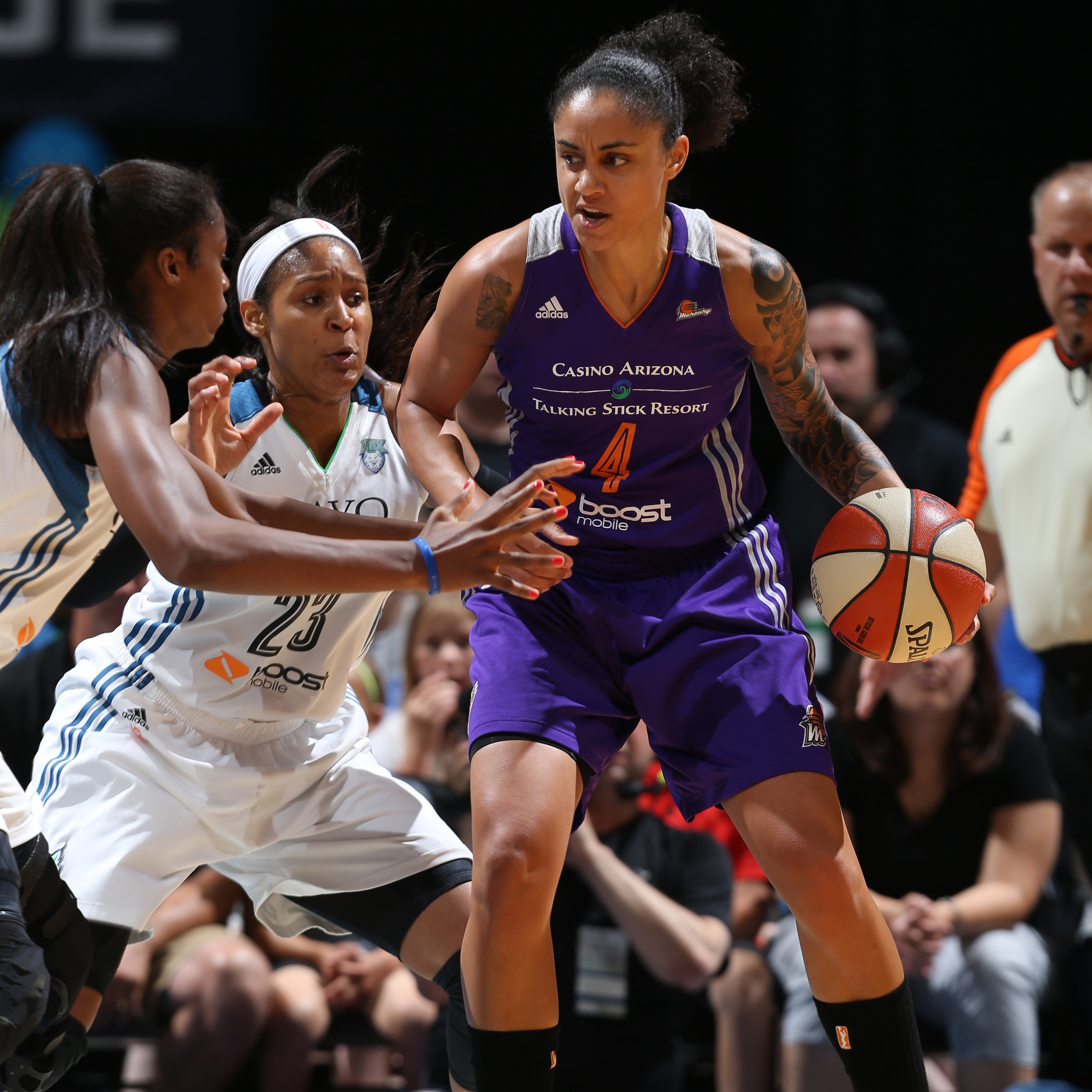 Mercury forward Candice Dupree struggled against the Lynx, scoring just eight points on 3-of-7 shooting while committing five turnovers in the loss.