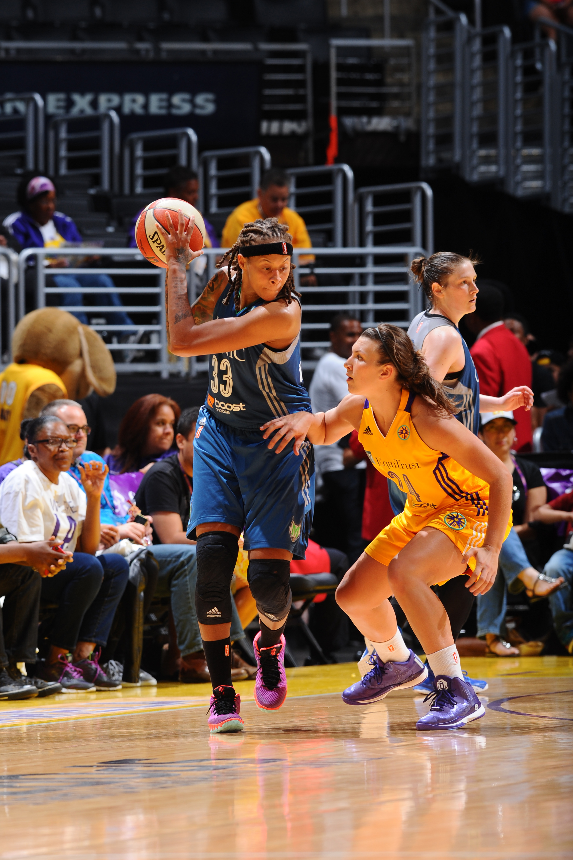 Lynx guard Seimone Augustus helped lead her team to victory, pouring in 20 points while adding three rebounds and four assists.