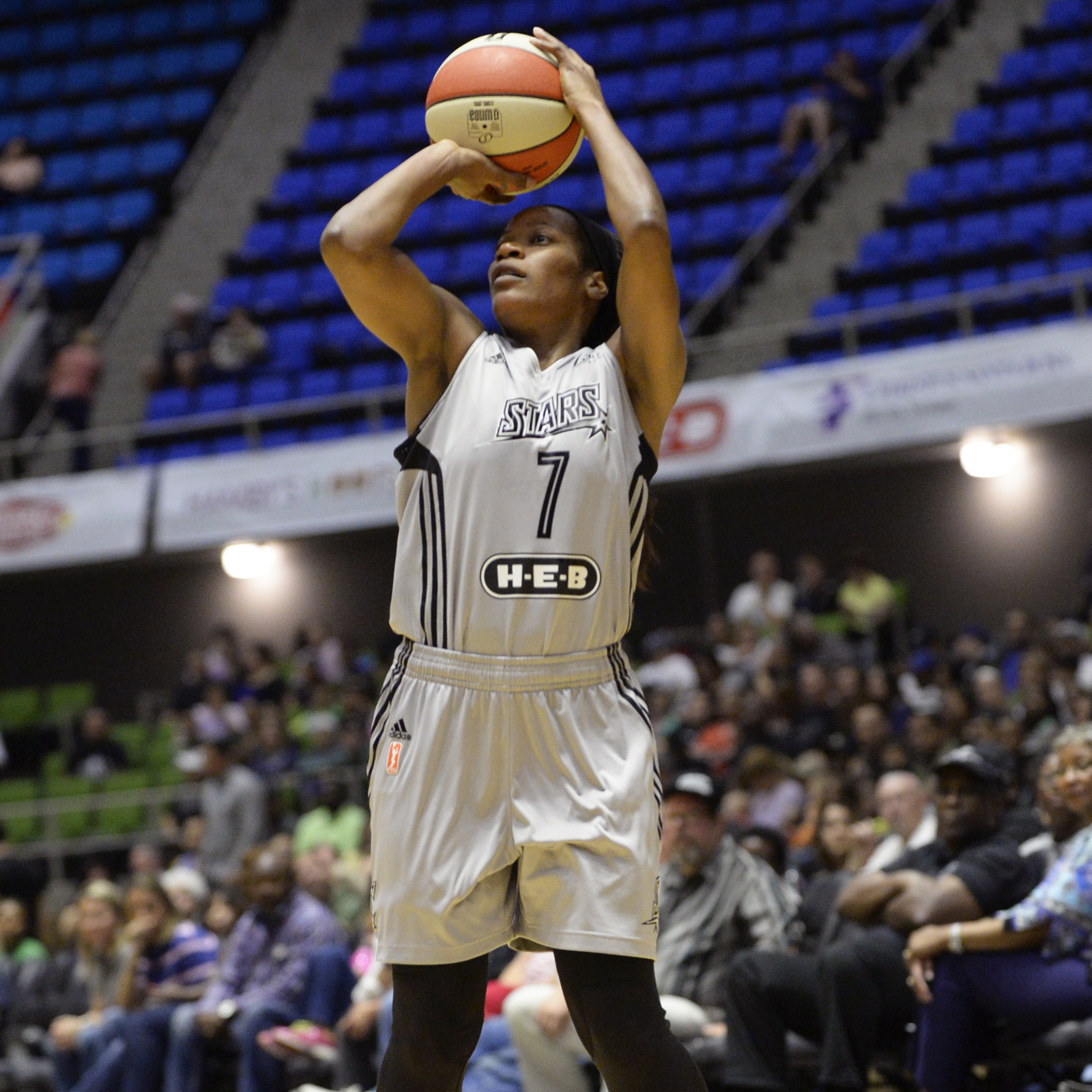 Stars guard Jia Perkins was the lone bright spot for the Stars, scoring 16 points while adding two rebounds, two assists and two steals.