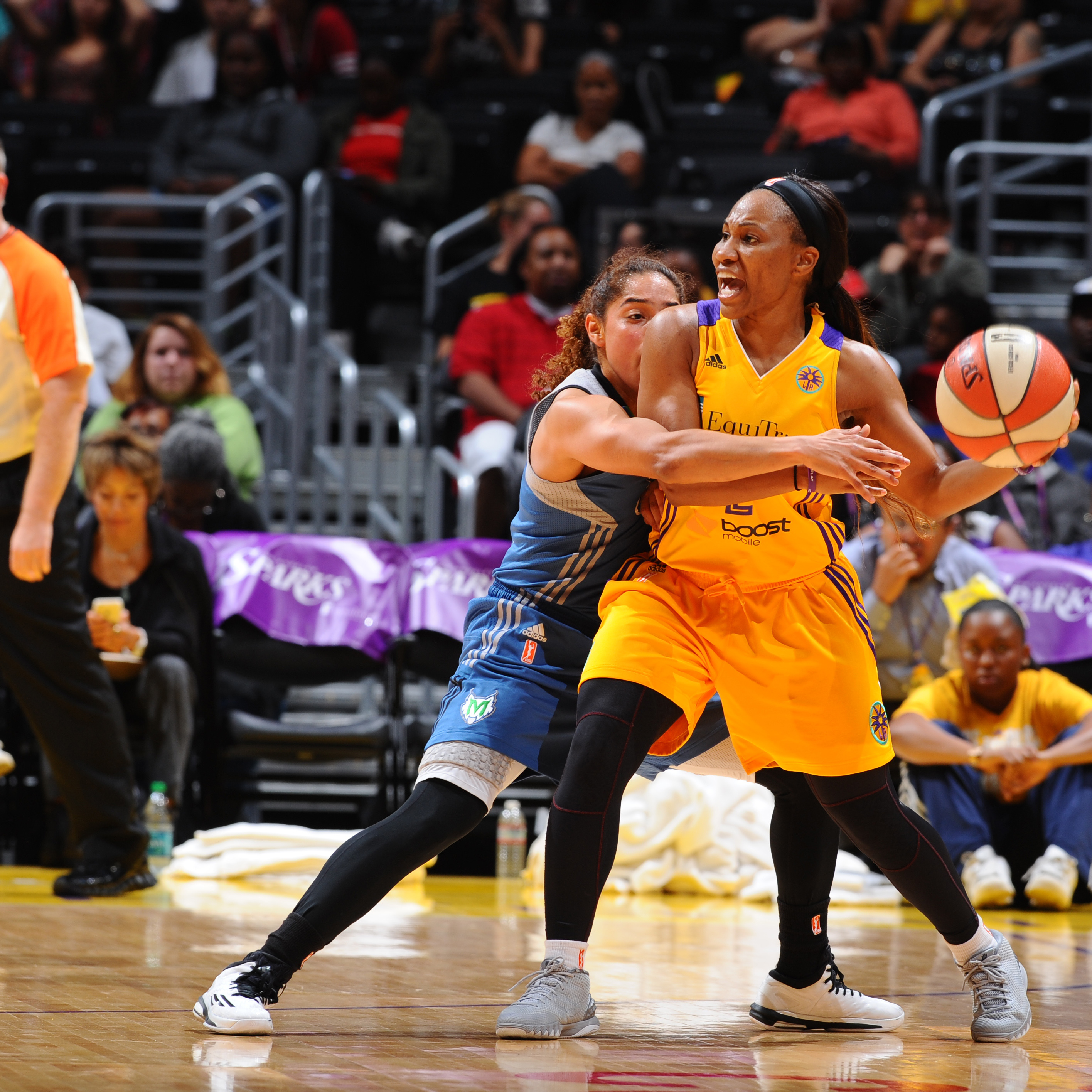 Sparks guard Temeka Johnson came off the bench and, despite only shooting 3-of-12 (25 percent) and scoring six points, added seven assists and three rebounds in the loss.