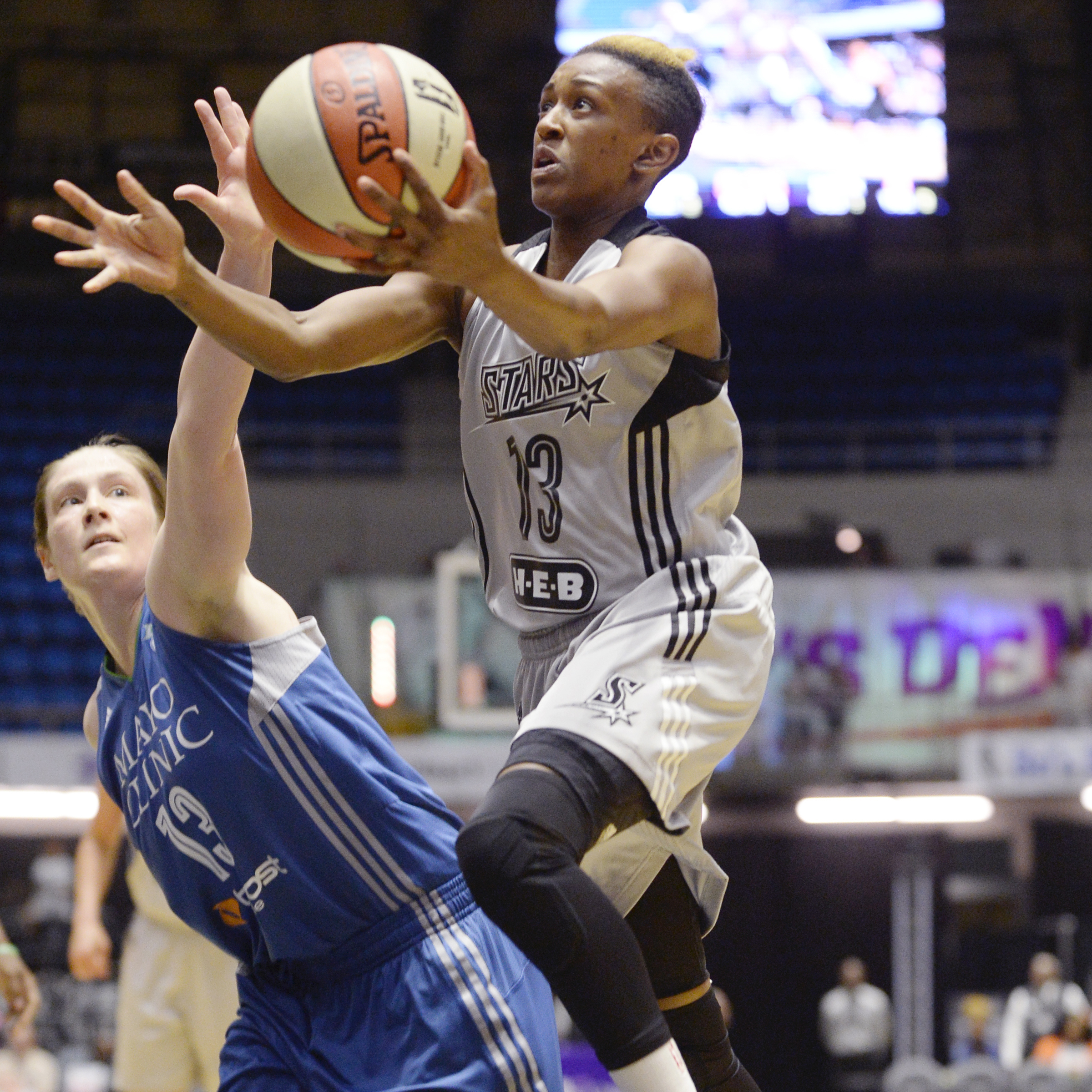 Stars guard Danielle Robinson struggled against the Lynx finishing with just six points and five assists.