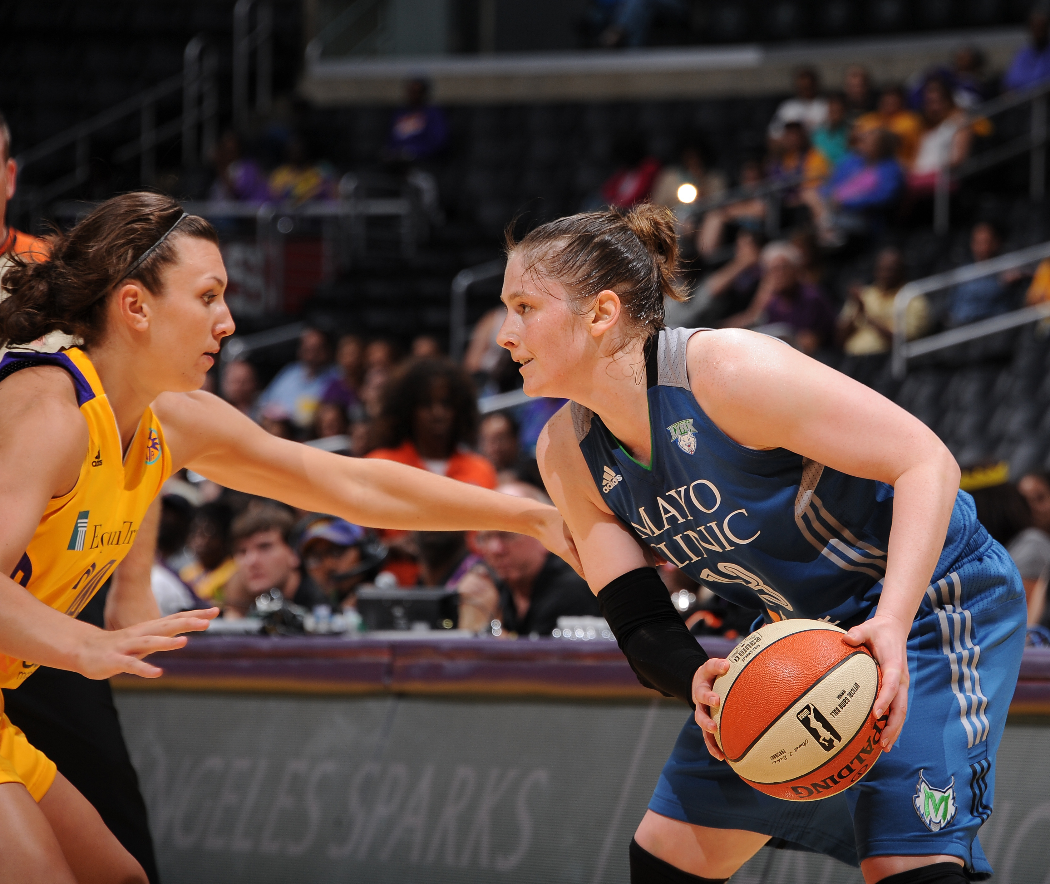 Lynx guard Lindsay Whalen played a game-high 36 minutes against Los Angeles, scoring eight points, grabbing  four rebounds and dishing seven assists.