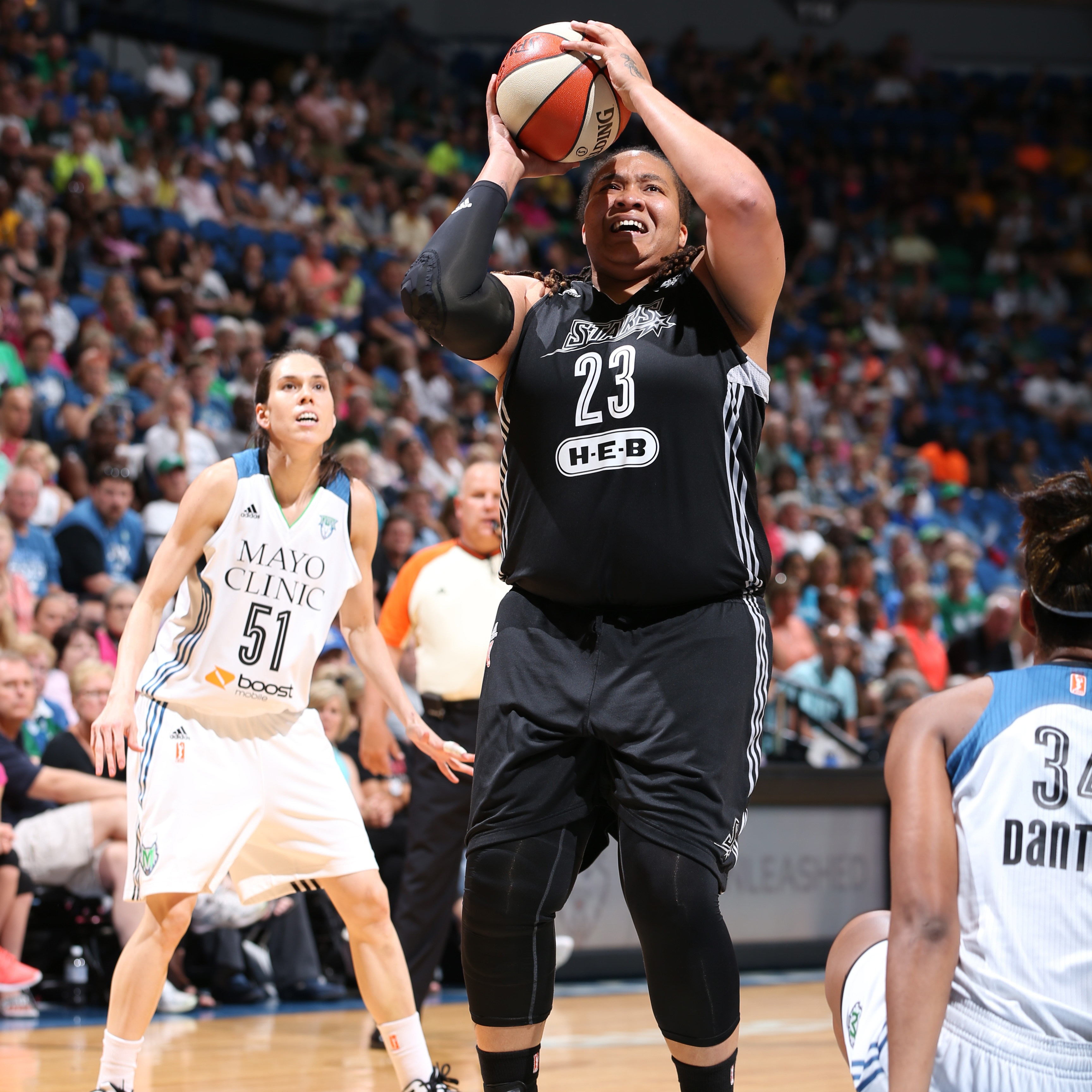 Stars center Danielle Adams steadied San Antonio, as best she could anyways, finishing with nine points on 3-of-5 (60 percent) shooting to go with her three rebounds.
