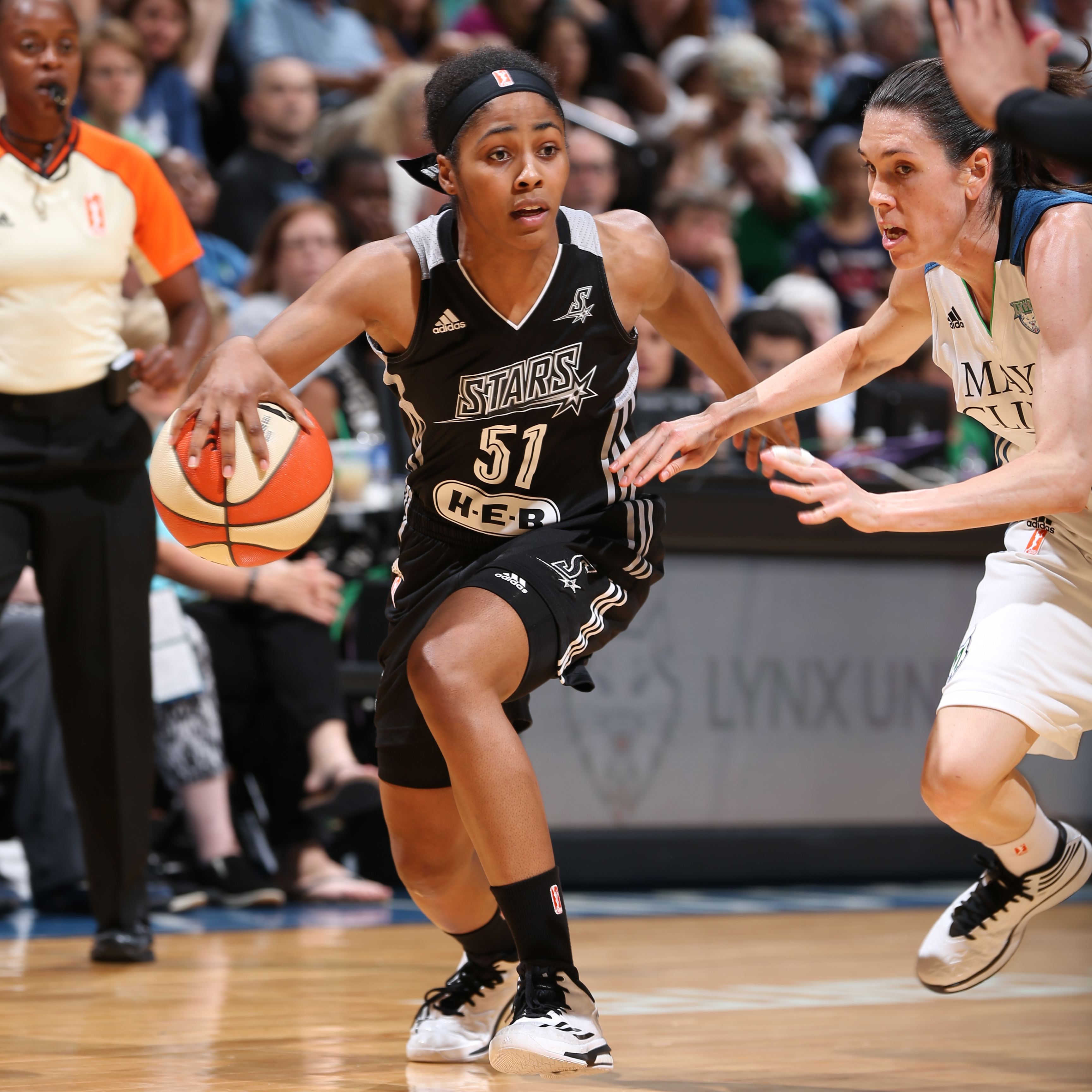 It was a rough for all Stars' guards and Sydny Colson was no exception. Colson finished with two points and four rebounds while committing three turnovers in the Stars' loss.