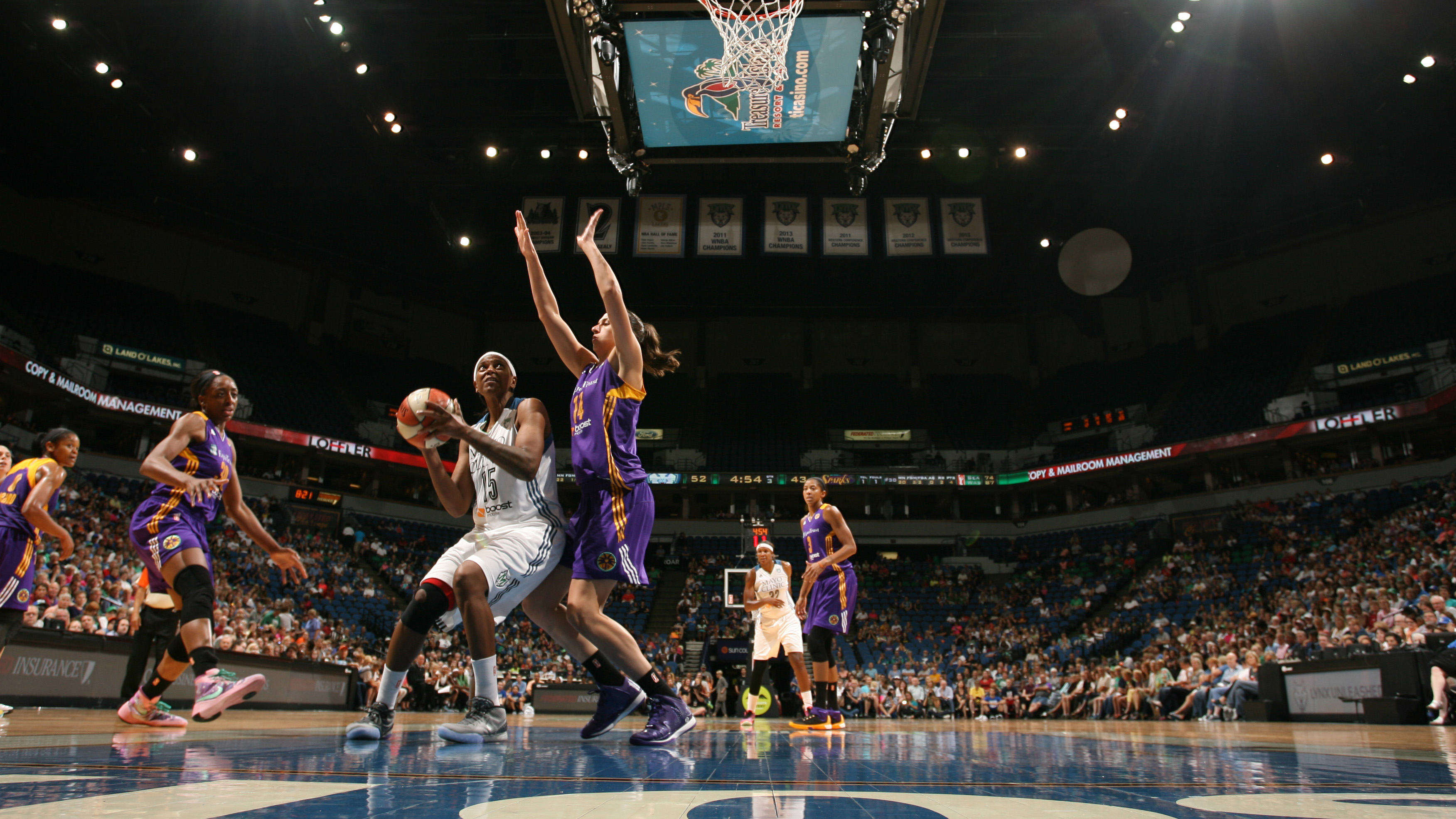 Lynx center Asjha Jones provided Minnesota with some timely baskets off the bench, finishing with eight points on 3-of-4 shooting (75 percent).