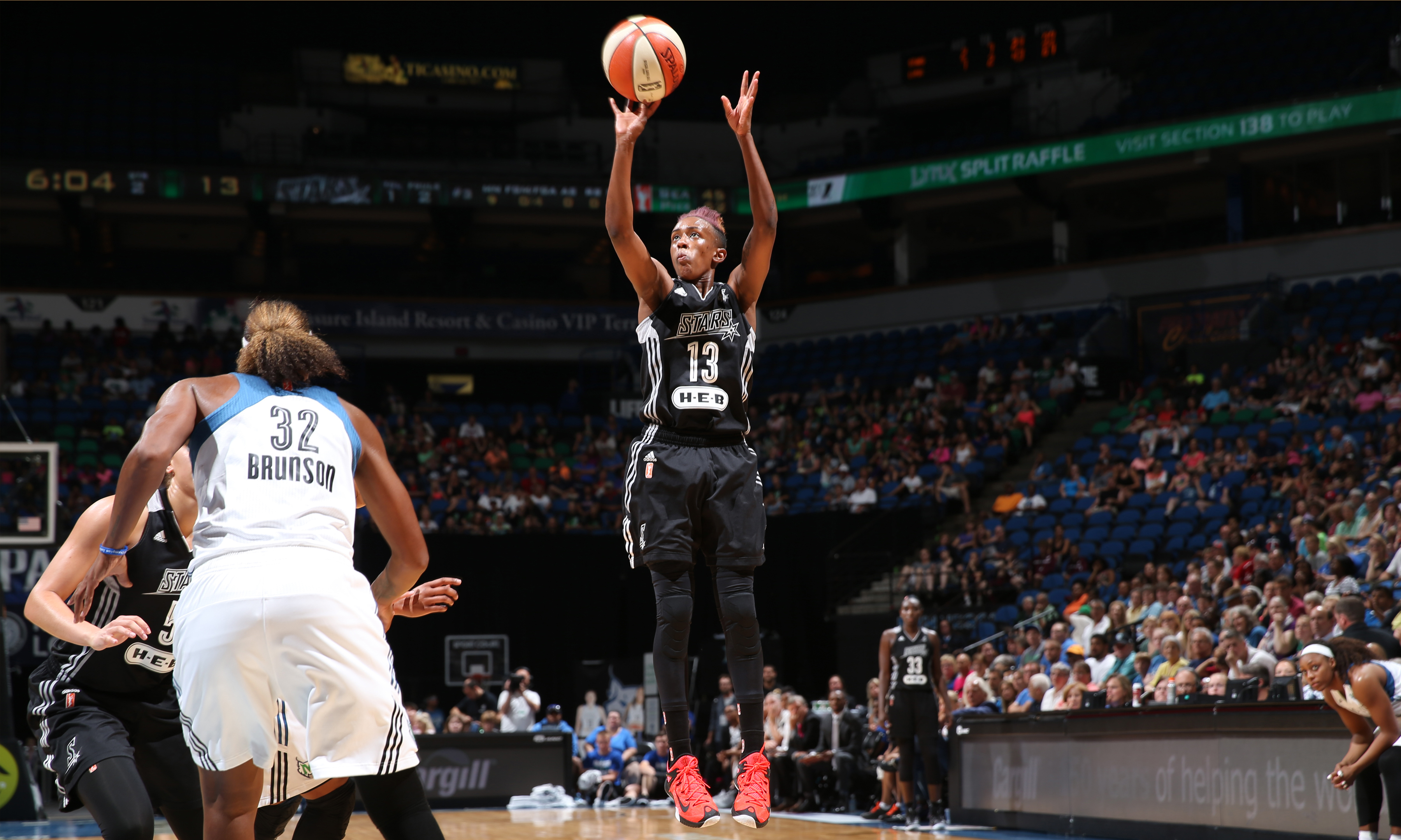 Stars guard Danielle Robinson struggled to find her shot last night, shooting just 2-of-8 (25 percent) from the field for five points to go along with her three rebounds and two assists.