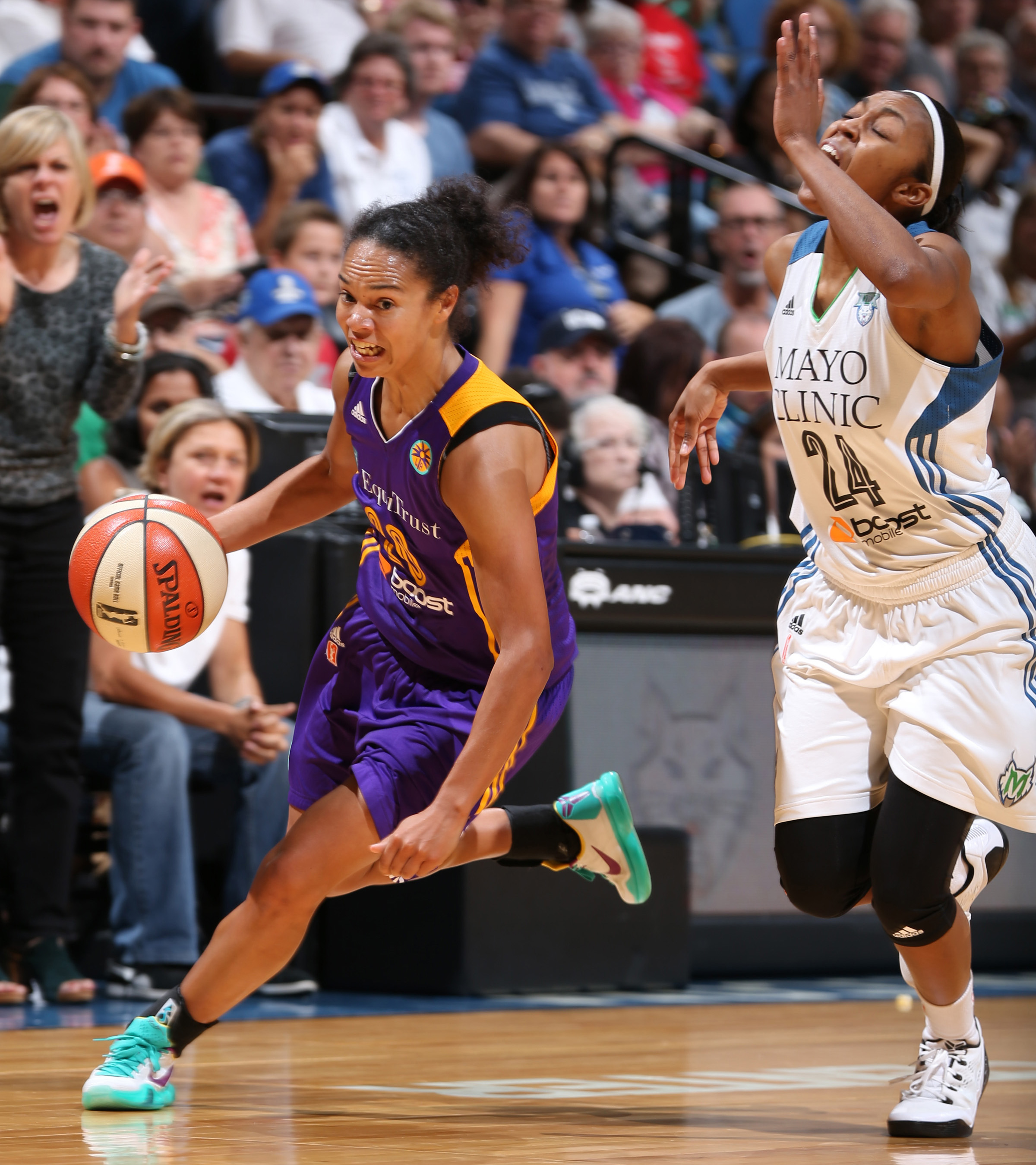 Sparks guard Kristi Toliver played well, finishing with 14 points on 5-of-13 shooting (38 percent) in 33 minutes of play.