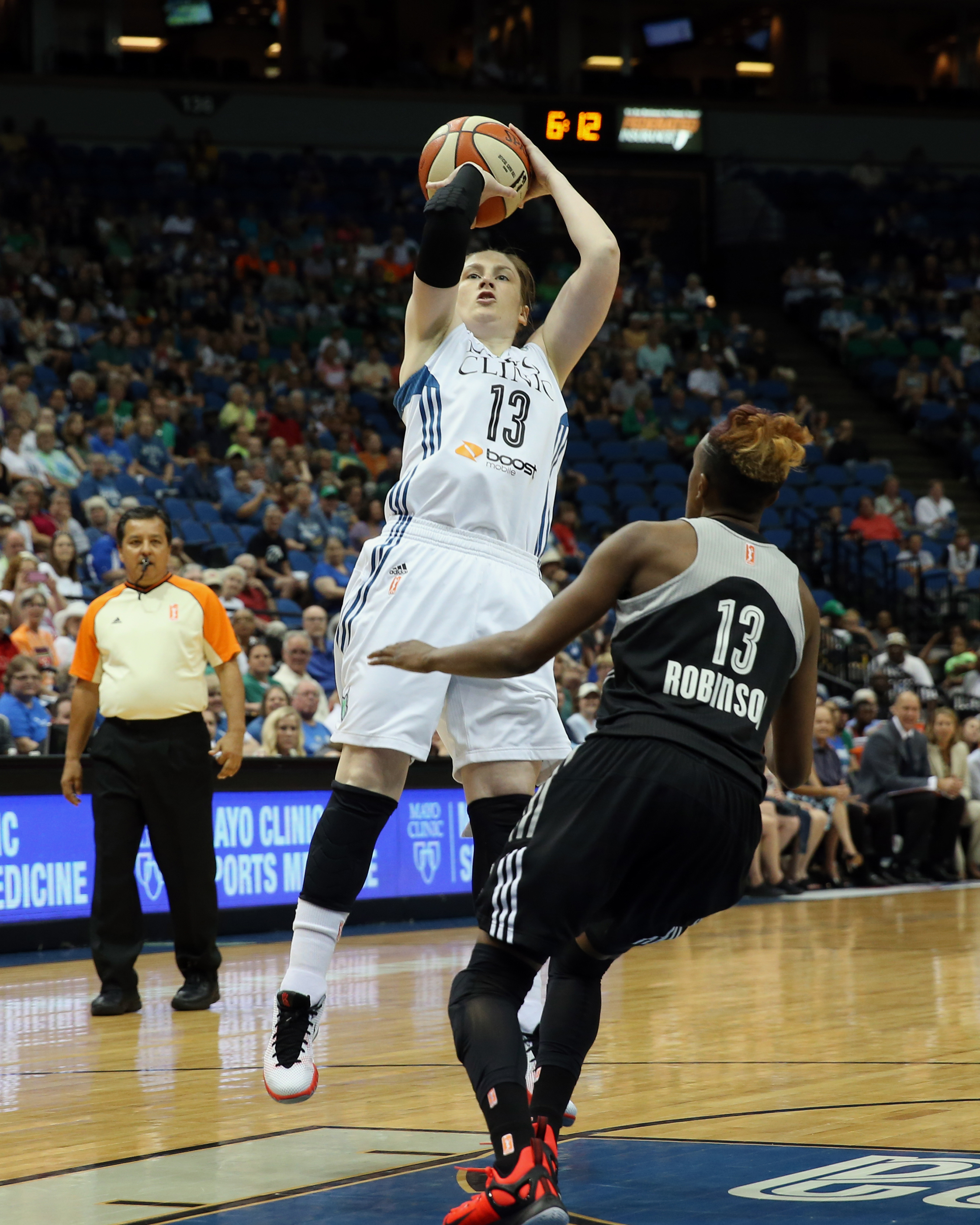 Lynx guard Lindsay Whalen  had a quiet night, scoring just two points while dishing out five assists in 18 minutes of playing time.