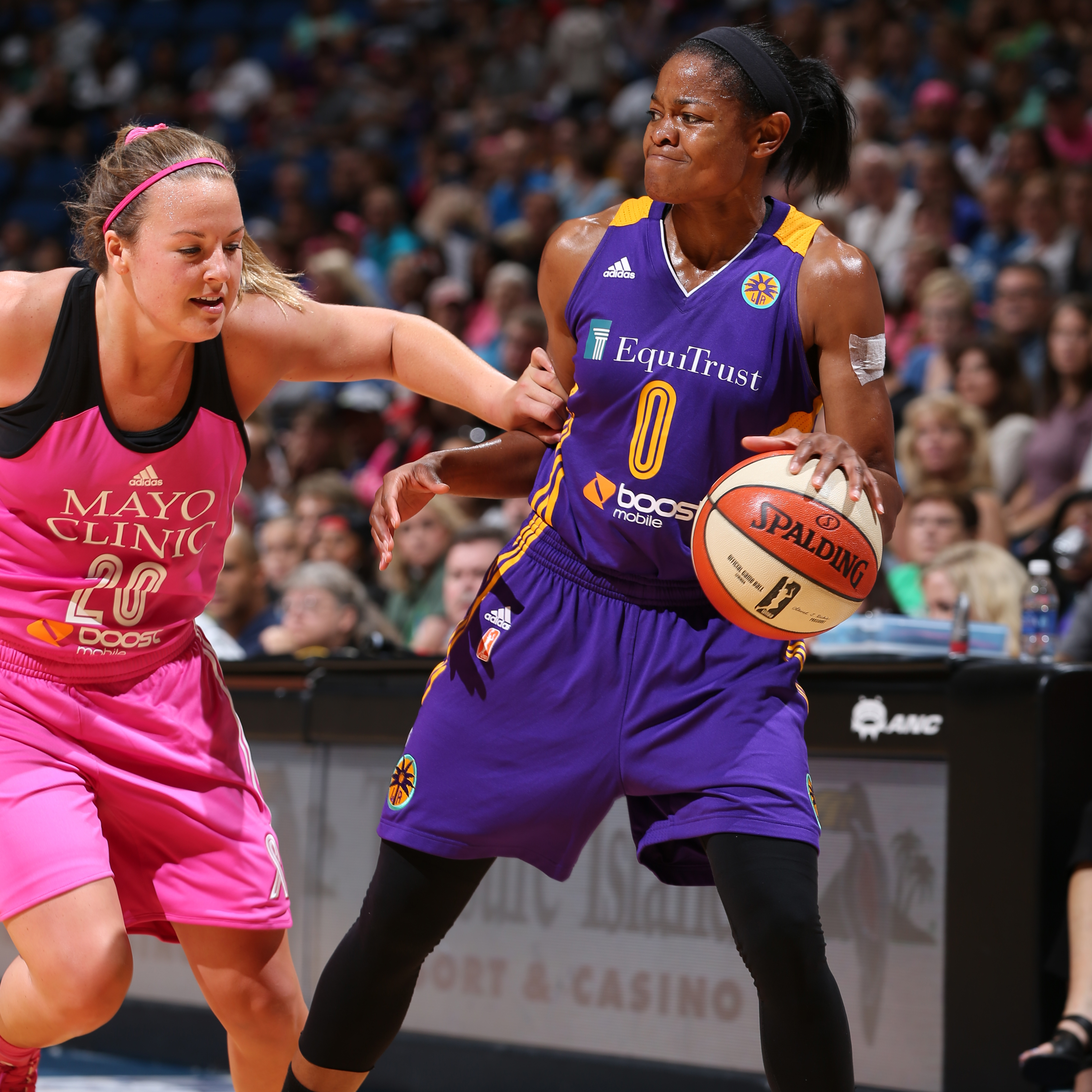 Sparks guard Alana Beard was held to a very quiet night against the Lynx. Beard finished with just two points on 1-of-3 shooting (33 percent) in just eight minutes of play.