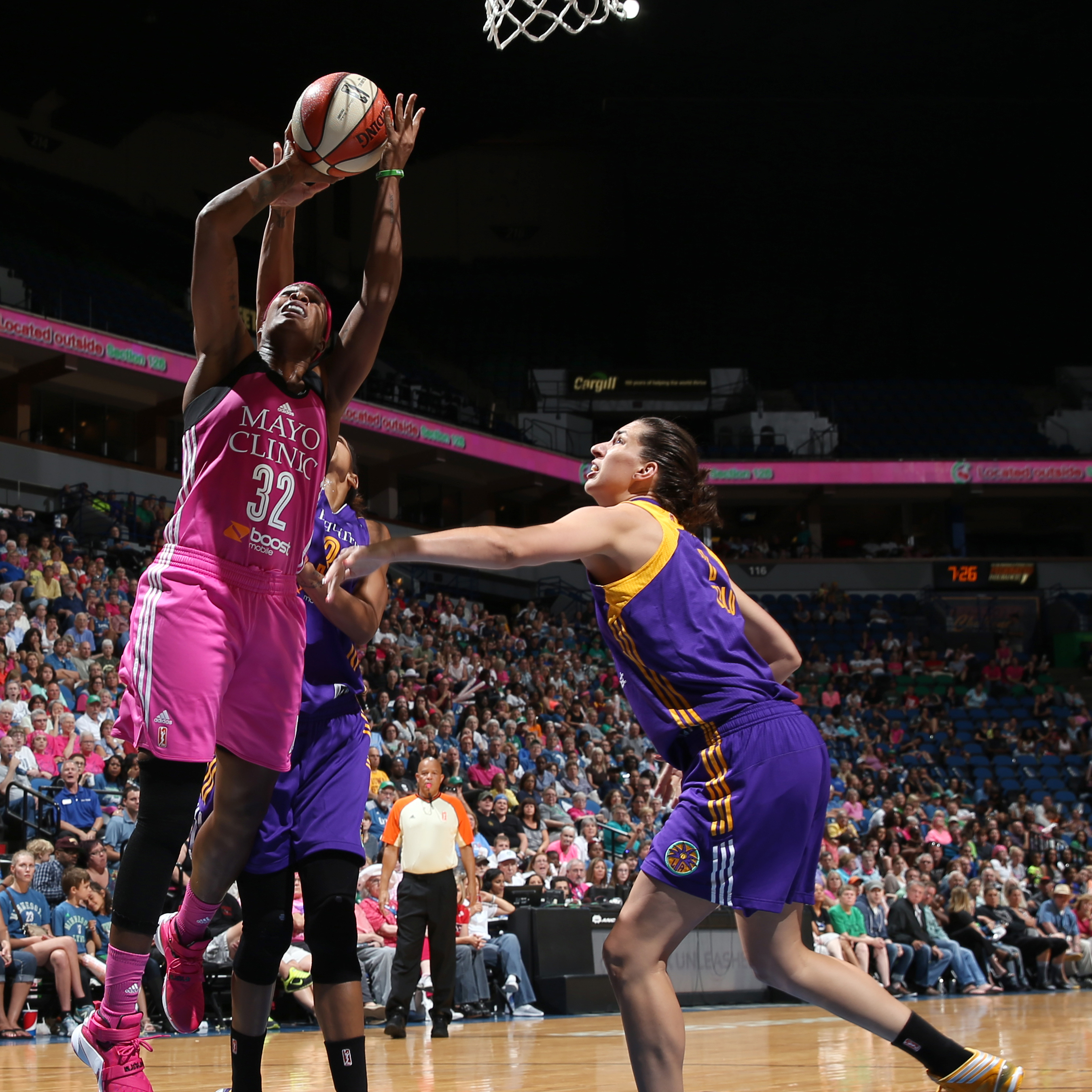 Lynx forward Rebekkah Brunson had a solid game against the Sparks, finishing with 10 points, six rebounds and two steals in the Lynx victory.