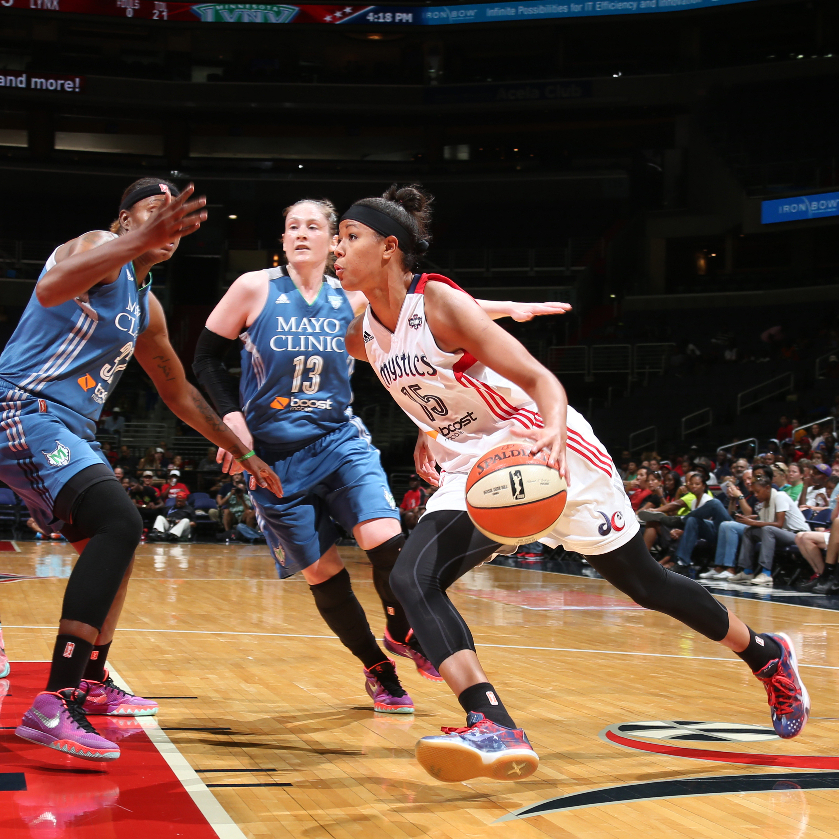 Mystics guard Natasha Cloud had a quiet night in Washington's victory, finishing with just two points, three rebounds and two assists.
