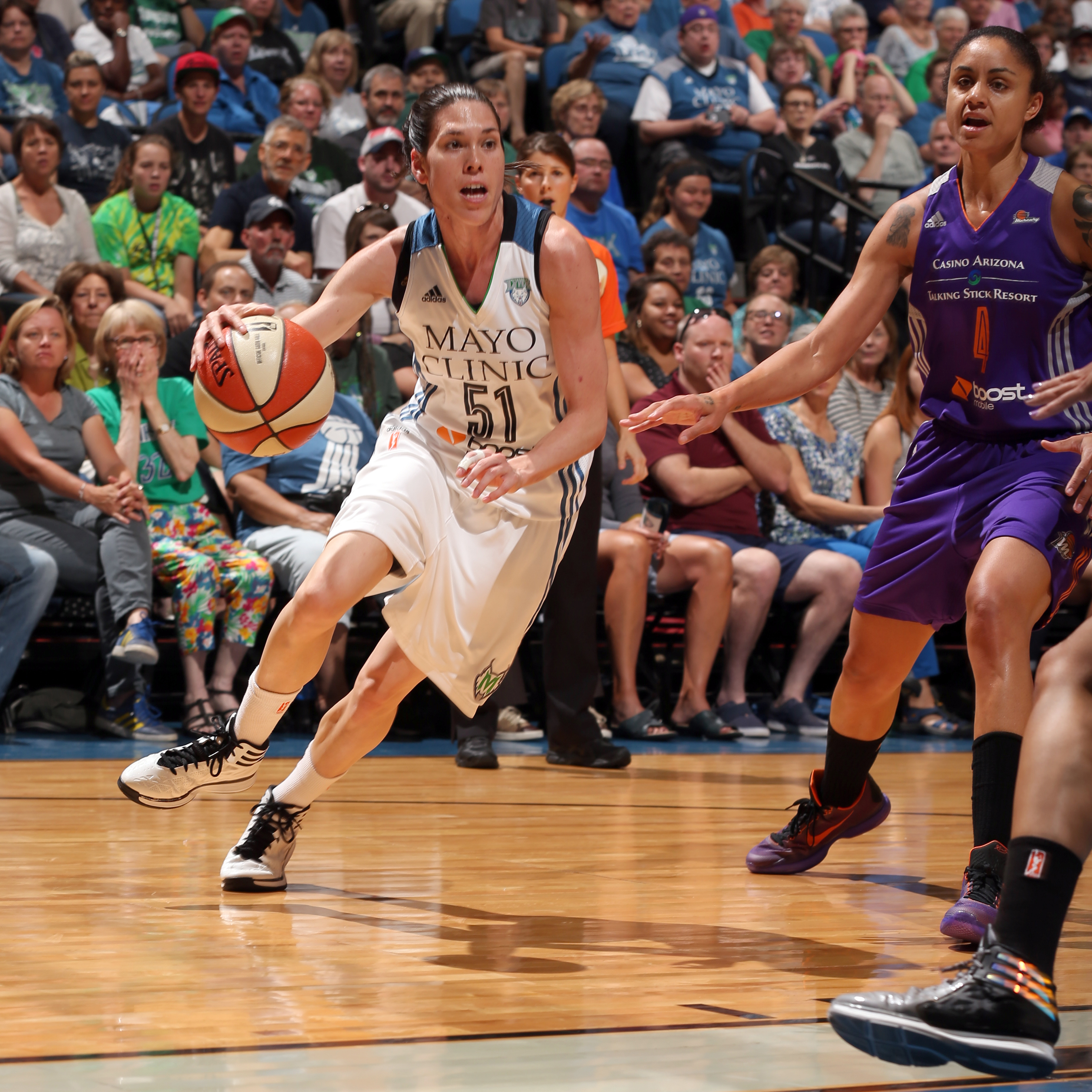 Lynx guard Anna Cruz gave Minnesota much needed defensive energy and helped to shut down Mercury guards. Cruz finished with six points,  three rebounds, four assists and three steals.