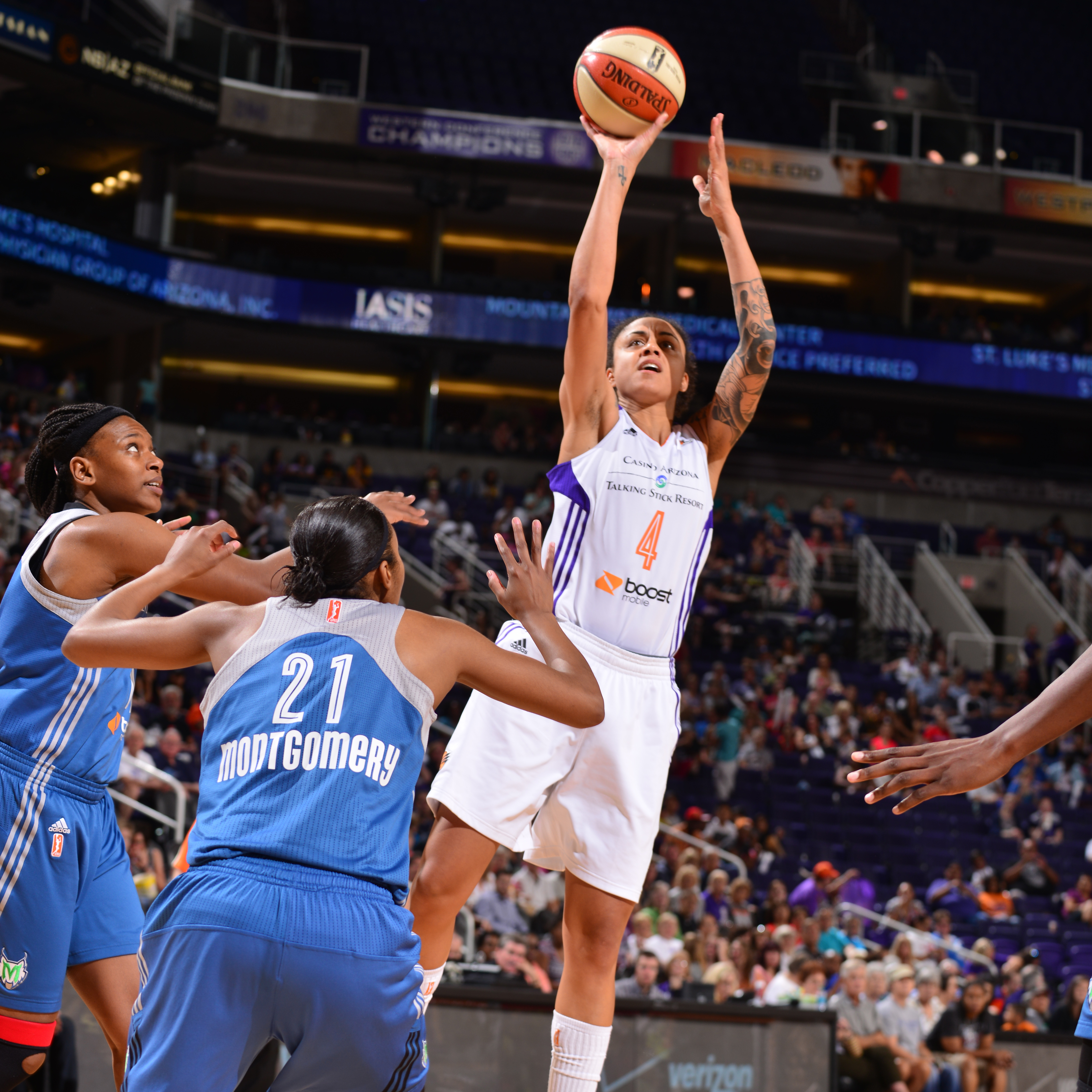 Mercury forward Candice Dupree had a rather quiet game for Phoenix, finishing with just nine points and six rebounds in 26 minutes of play.