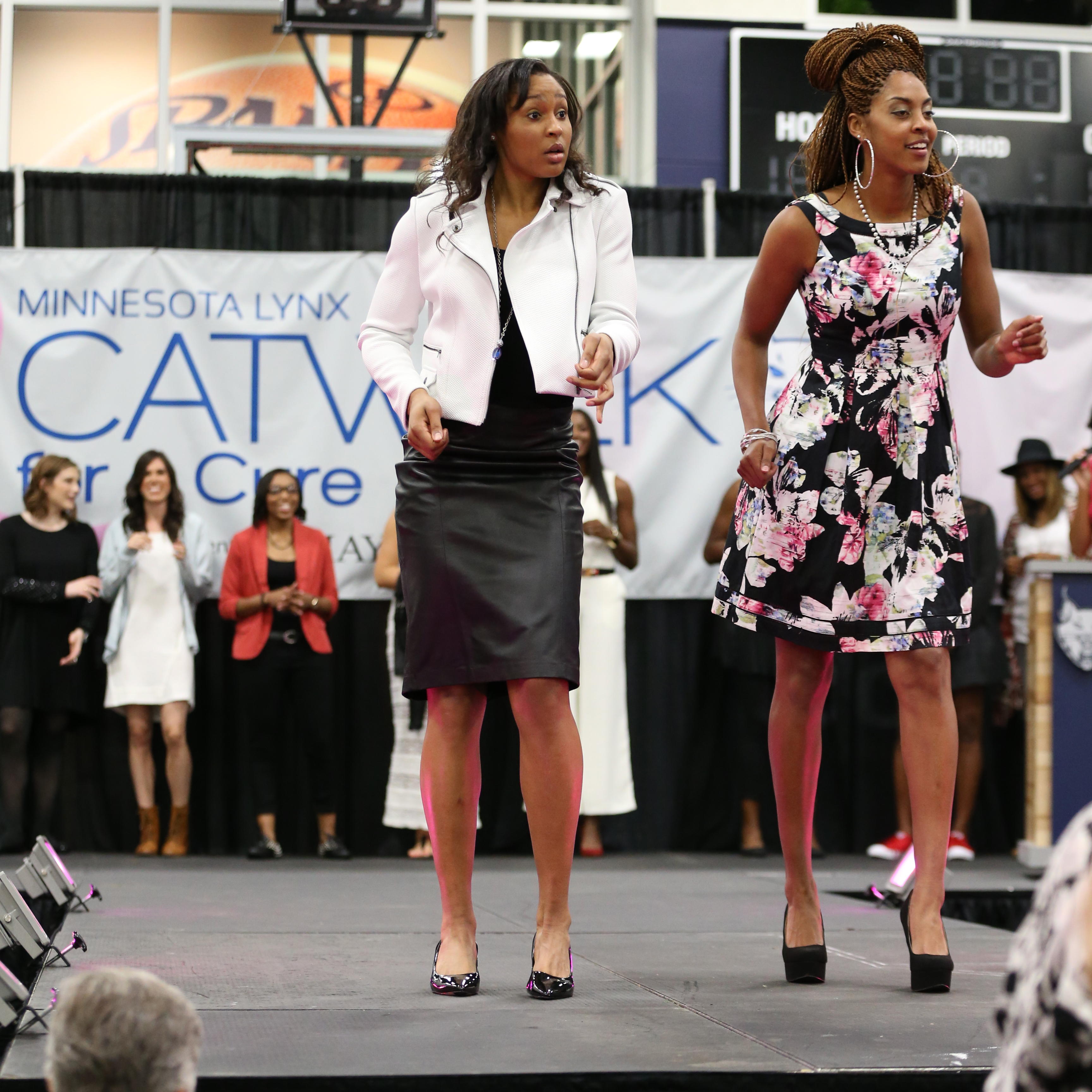 Lynx forwards Maya Moore and Shae Kelley