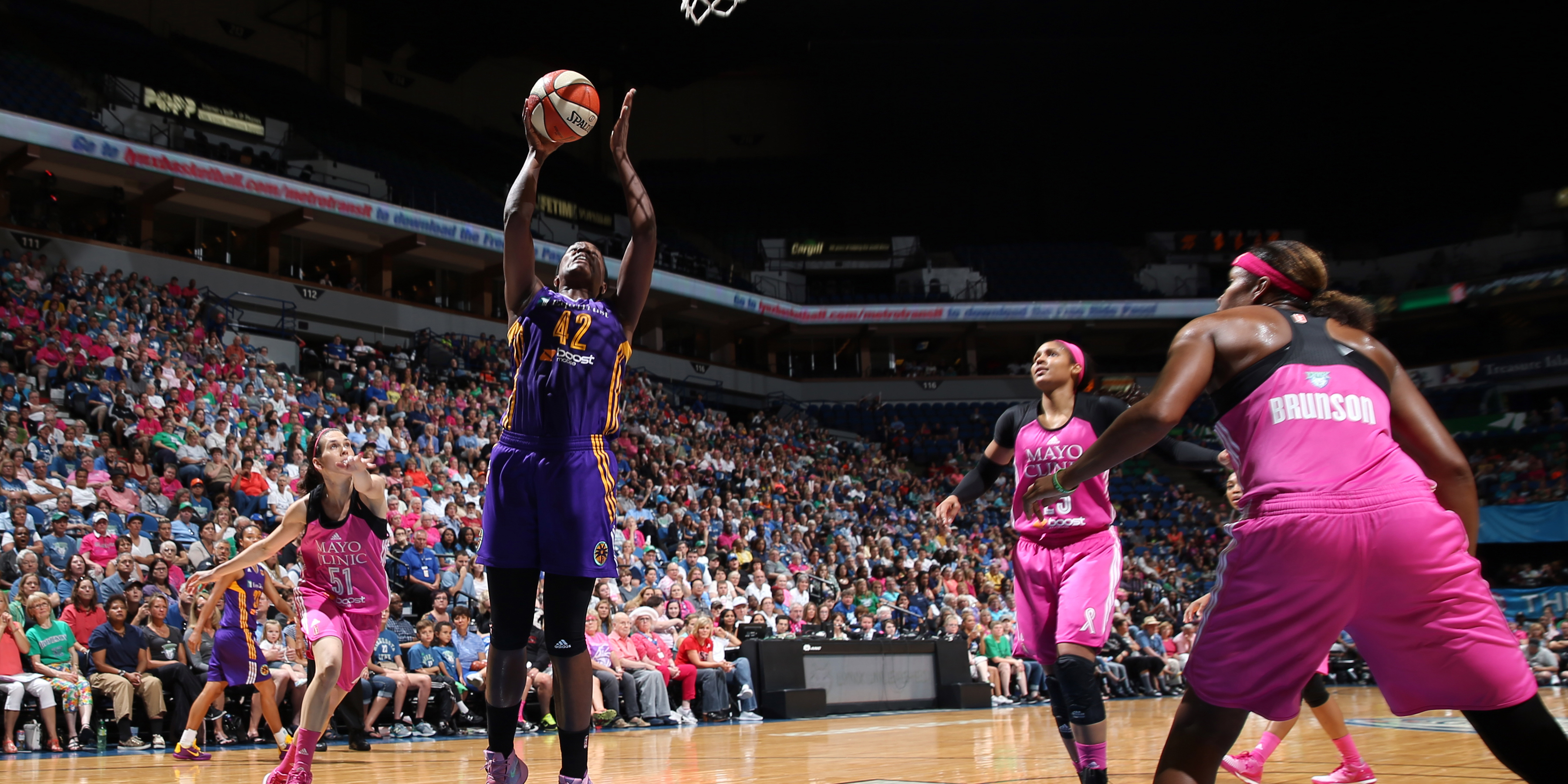 Sparks center Jantel Lavender had given the Lynx fits all season long and their August 9 meeting was no exception. Lavender finished with 13 points and eight rebounds. It was the only game against the Lynx in he regular season in which Lavender did not notch a double-double.