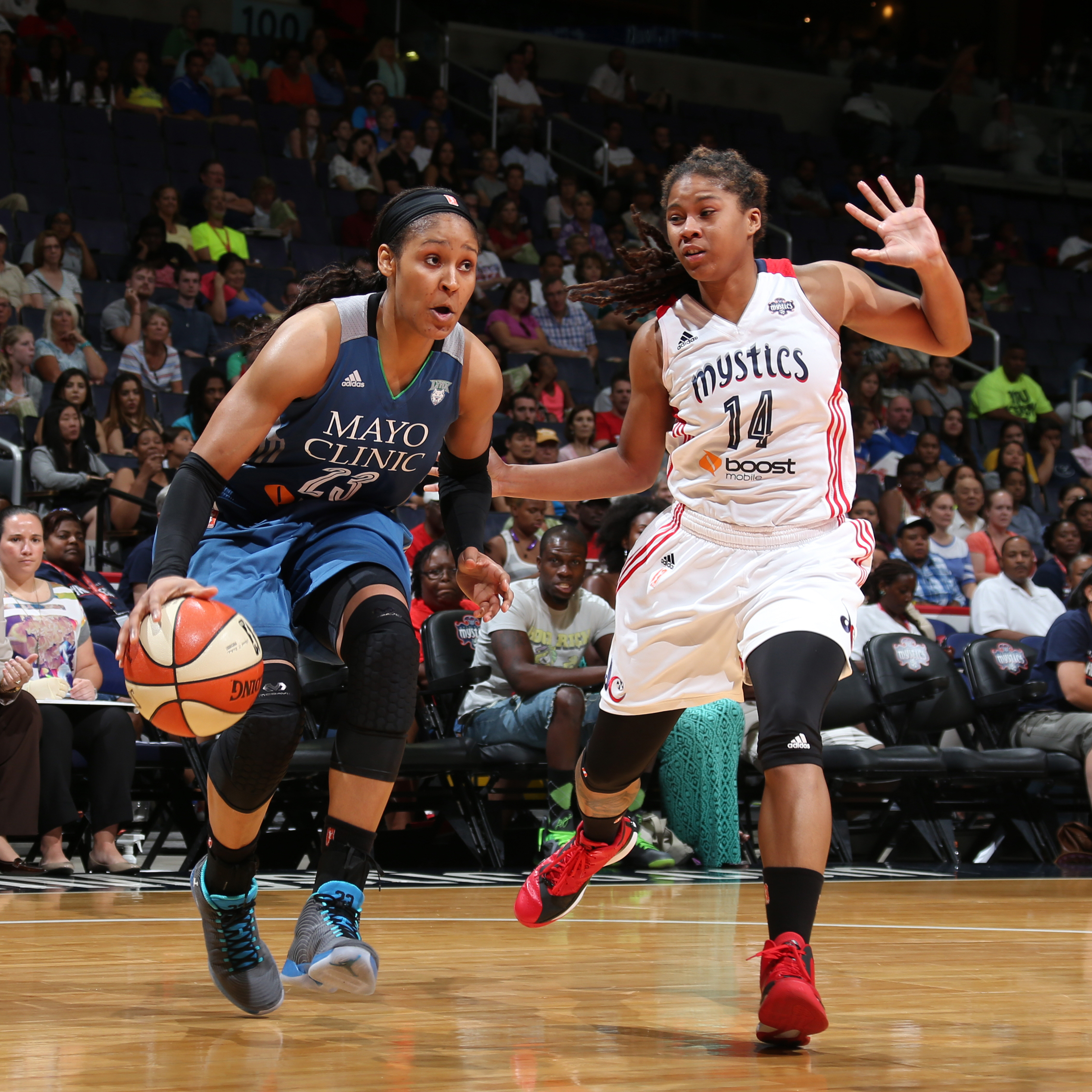 Lynx forward Maya Moore had a quiet game against the Mystics...well, quiet by her standards. Moore finished with just 12 points, eight rebounds and four assists.