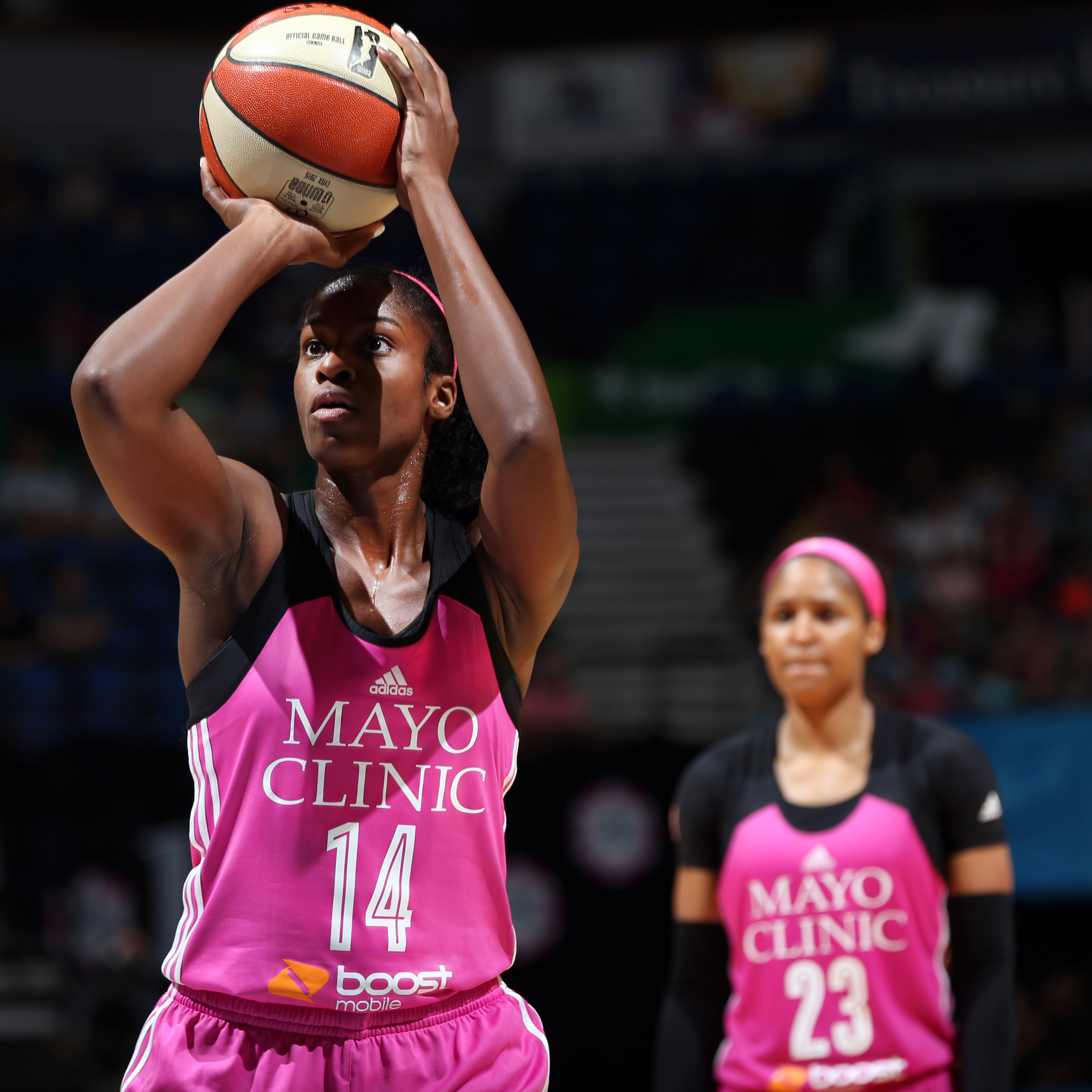Lynx forward Devereaux Peters povided huge minutes off the bench for Minnesota, finishing with seven points, eight rebounds and two blocked shots in just 16 minutes of play.