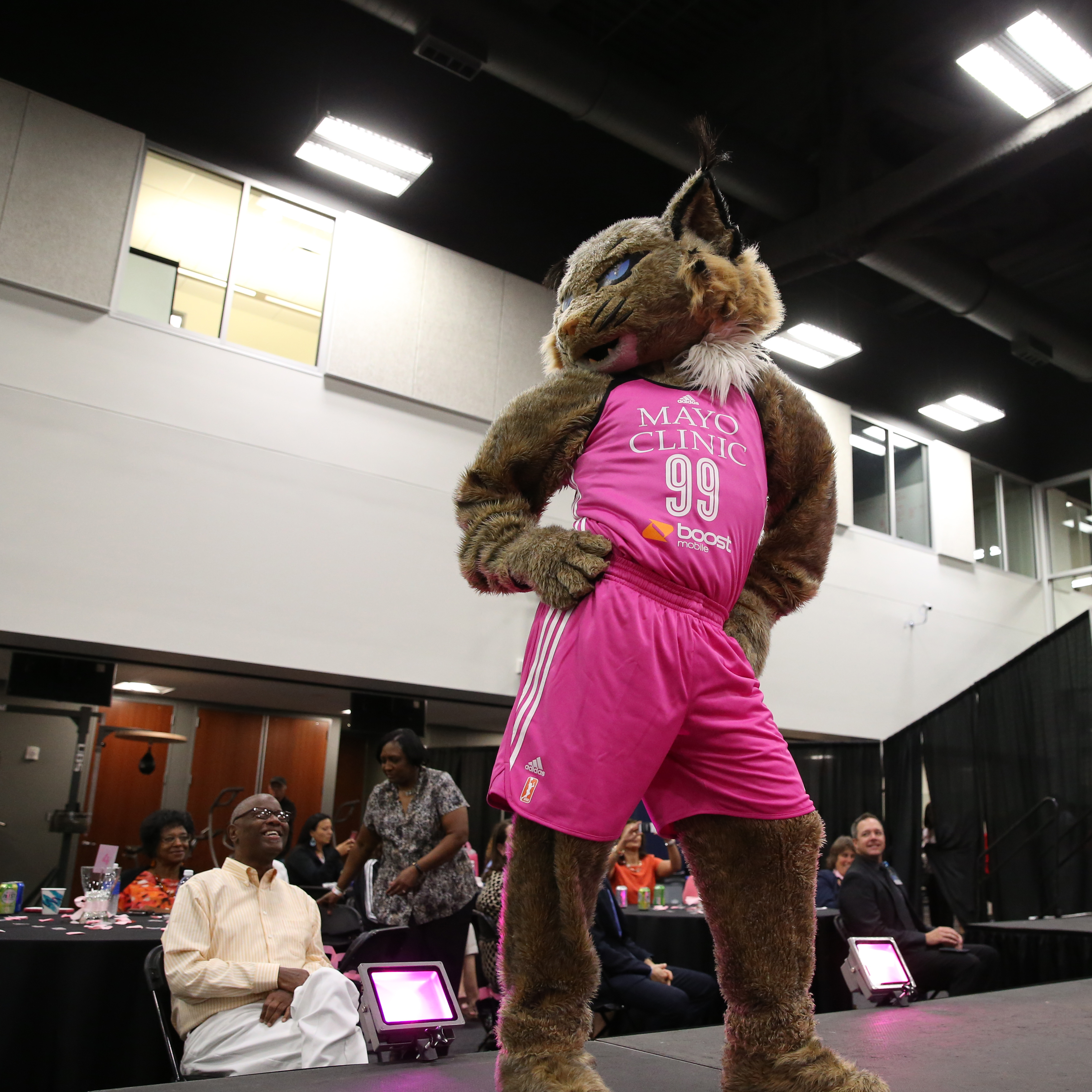 Lynx mascot Prowl even took a turn on the catwalk