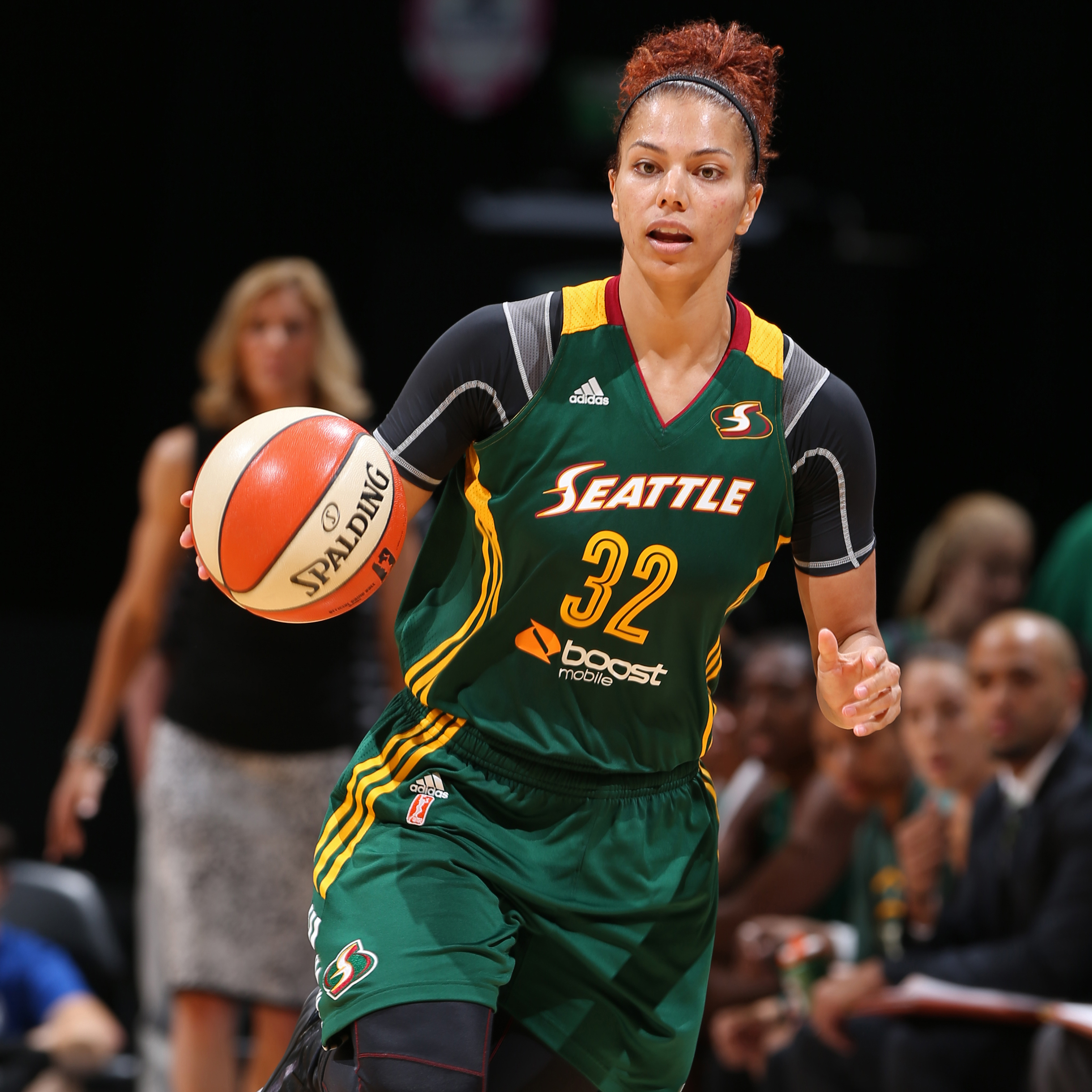 Forward Alysha Clark delivered a solid performance for the Storm on Tuesday night, finishing with 12 points, six rebounds and three steals in the loss.