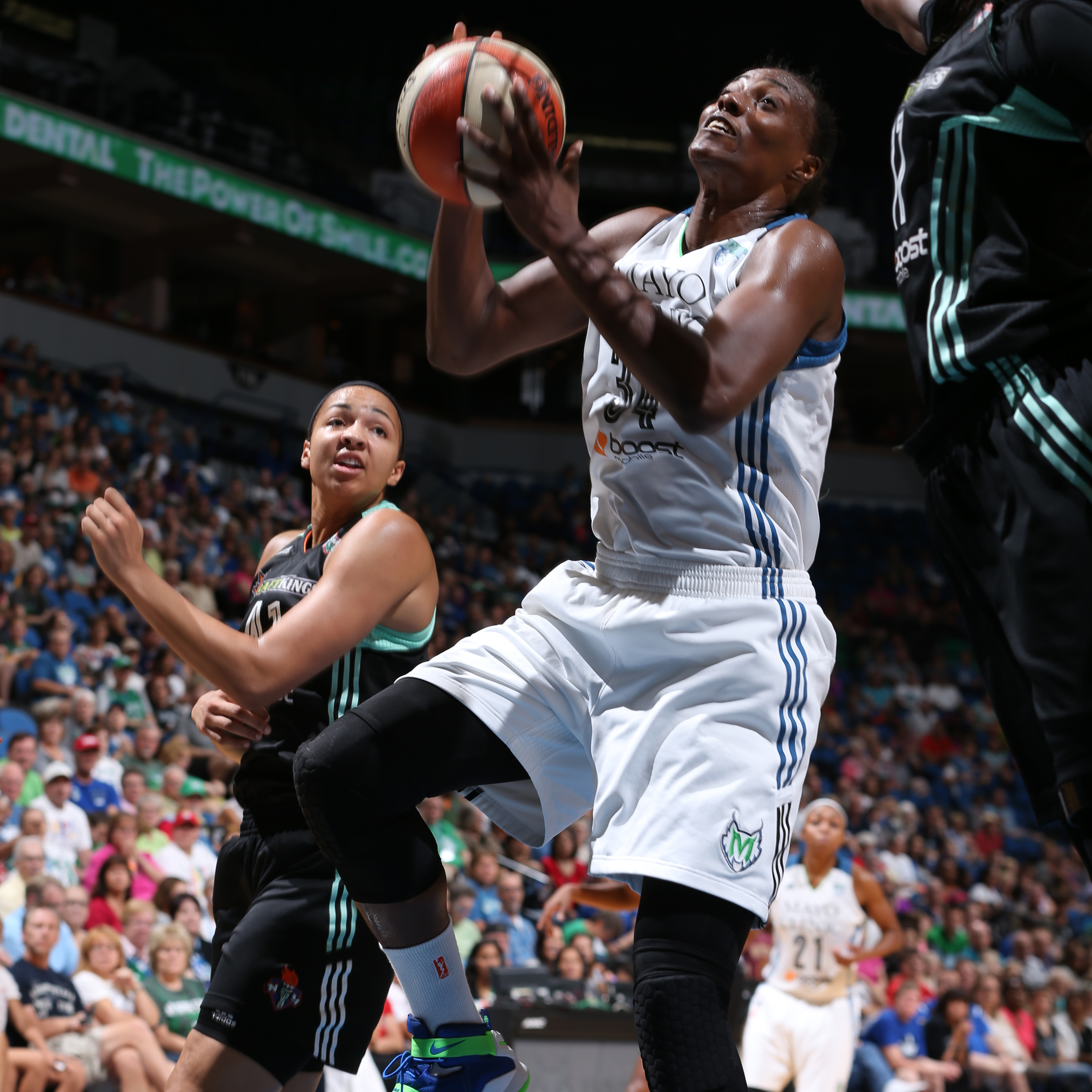 Lynx center Sylvia Fowles entered Sunday night's contest having achieved a double-double in her past five games; Fowles finished just one rebound shy of making it a sixth, finishing with 19 points, nine rebounds and three blocked shots.
