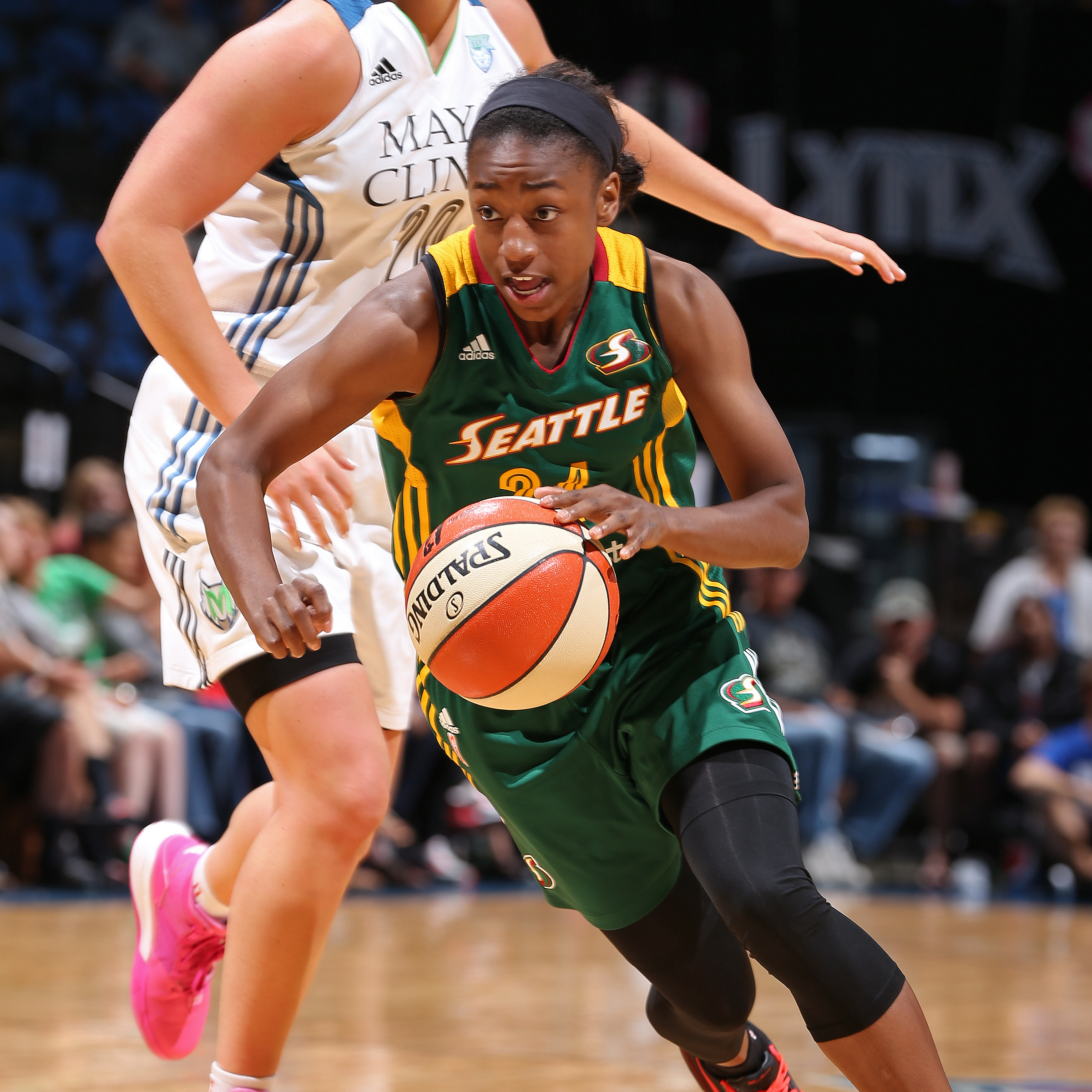 Guard Jewell Loyd continued her run of great play for Seattle, finishing the game with 13 points, three assists and one blocked shot against the Lynx.