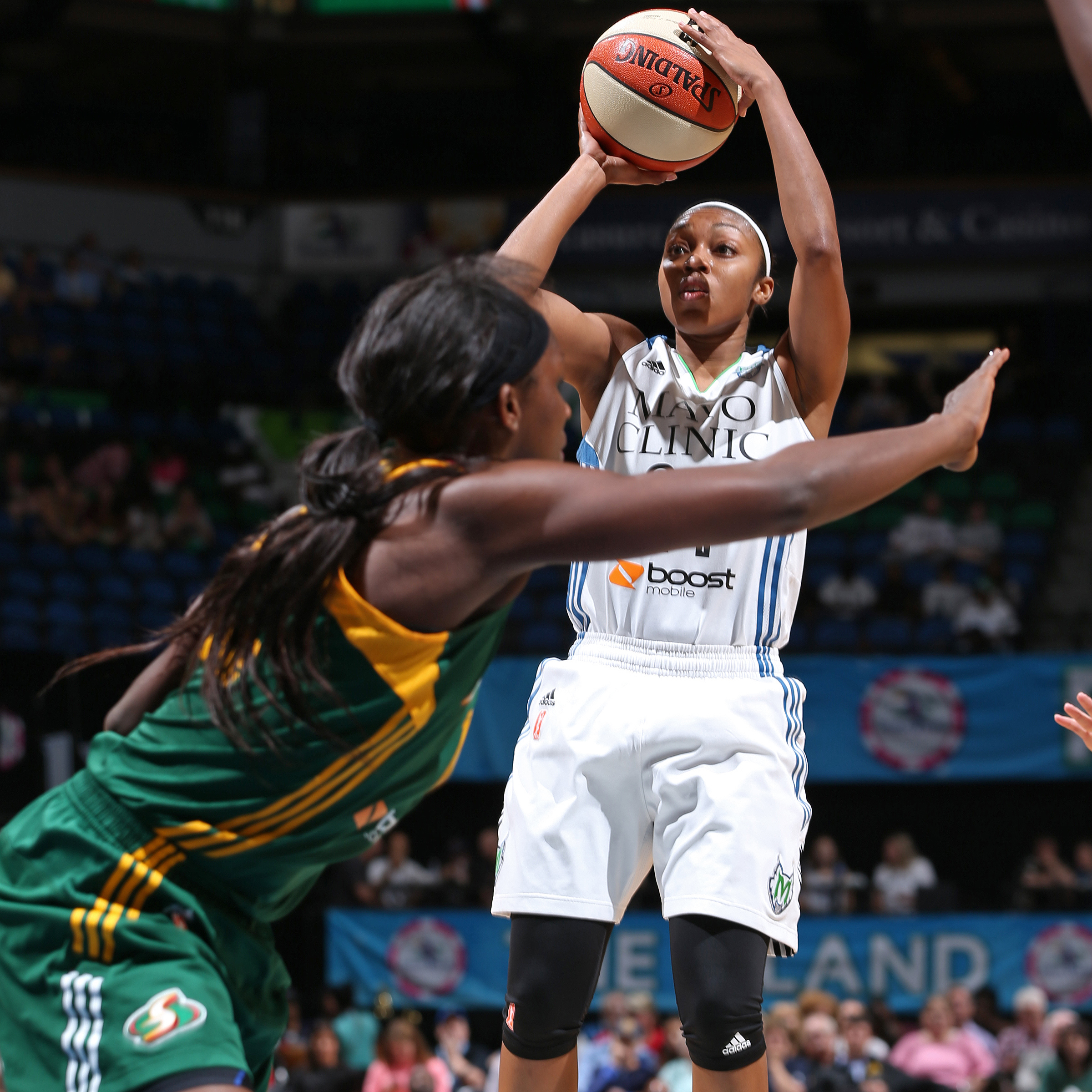 Lynx guard Renee Montgomery had an overall quiet night against Seattle, scoring just six points while adding two assists and one steal.