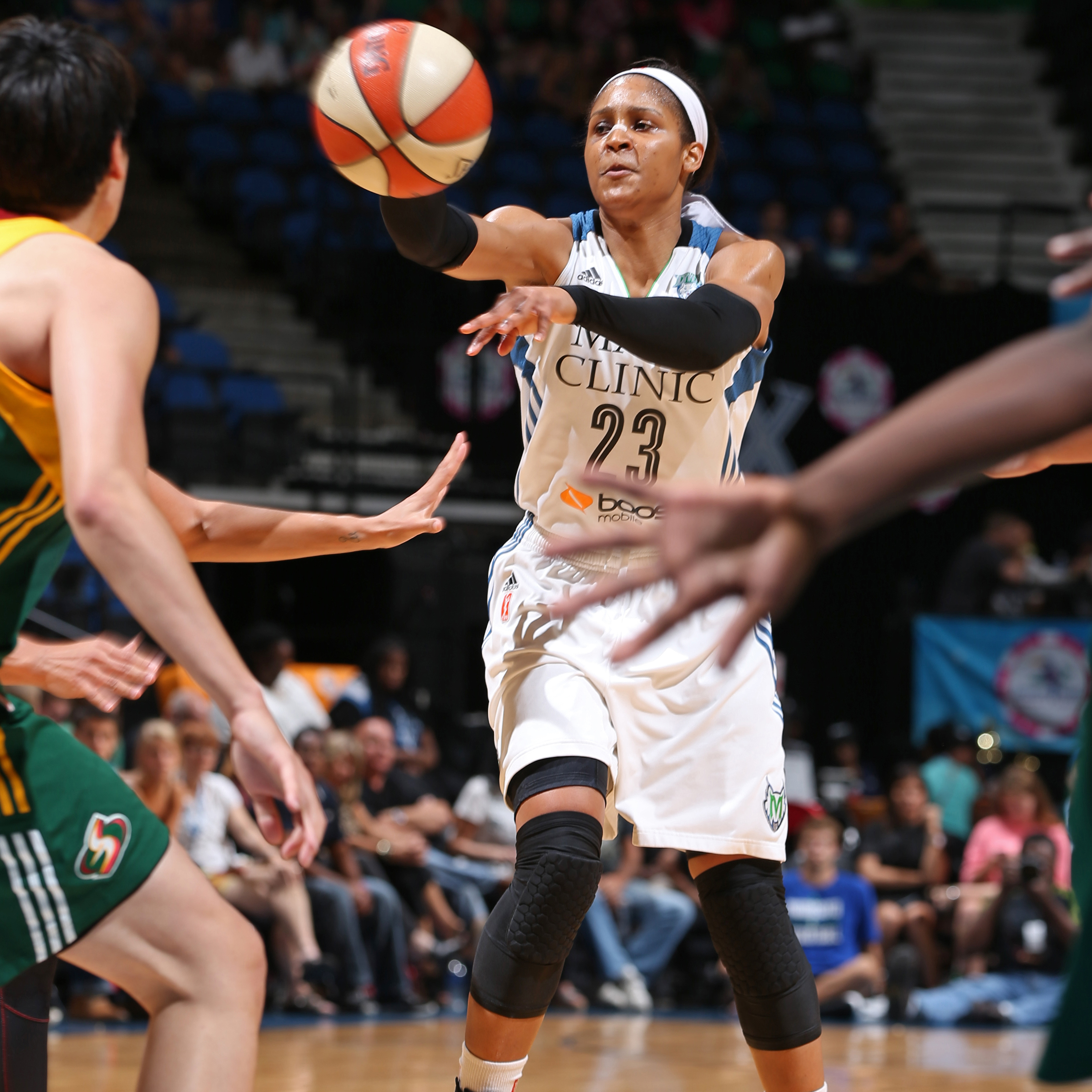 Another game, another 20+ points for Lynx forward Maya Moore. Moore finished Tuesday night's game with 20 points, seven rebounds, five assists and one steal.