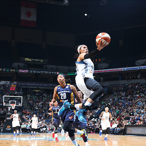 MINNEAPOLIS, MN - OCTOBER 6:   Maya Moore #23 of the Minnesota Lynx shoots the ball against the Indiana Fever during Game Two of the 2015 WNBA Finals on October 6, 2015 at Target Center in Minneapolis, Minnesota.  NOTE TO USER: User expressly acknowledges and agrees that, by downloading and or using this Photograph, user is consenting to the terms and conditions of the Getty Images License Agreement. Mandatory Copyright Notice: Copyright 2015 NBAE (Photo by David Sherman/NBAE via Getty Images)